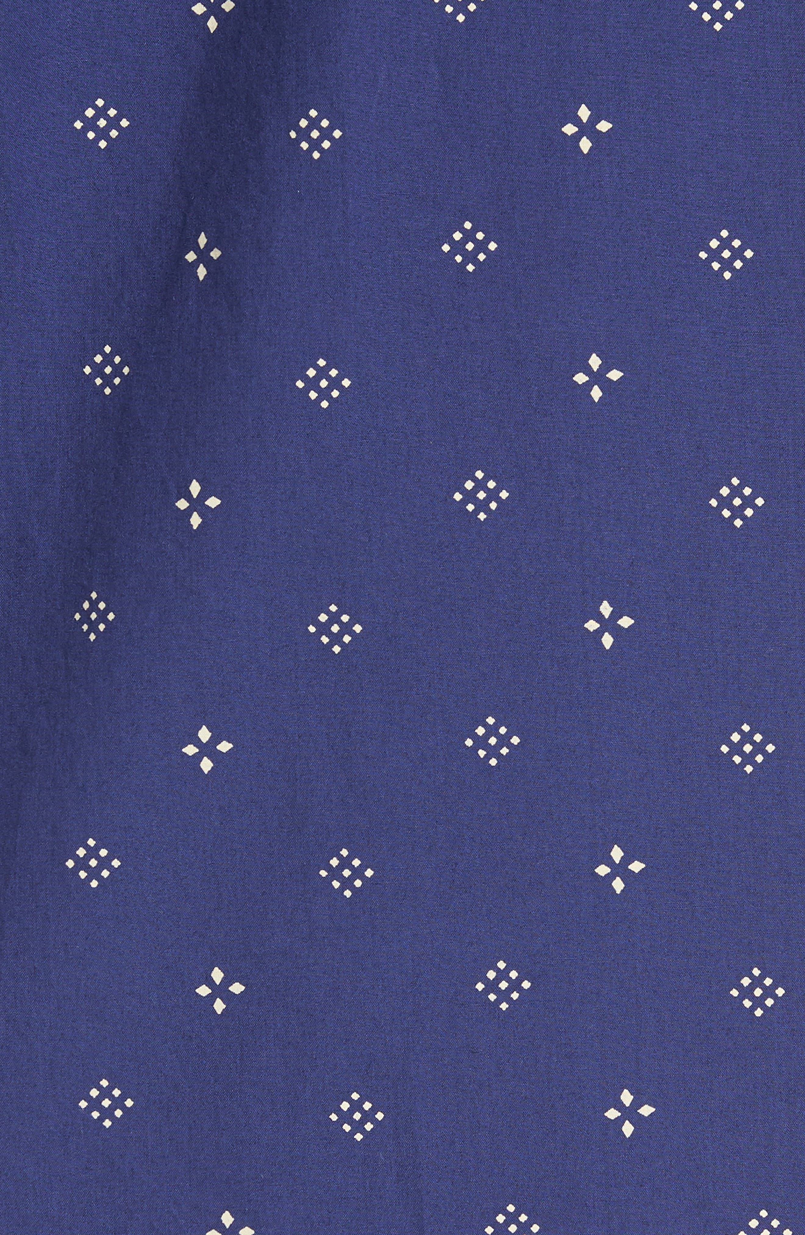 Iki Lawn Embroidered Shirt,                             Alternate thumbnail 5, color,                             PATRIOT BLUE TURTLE DOVE