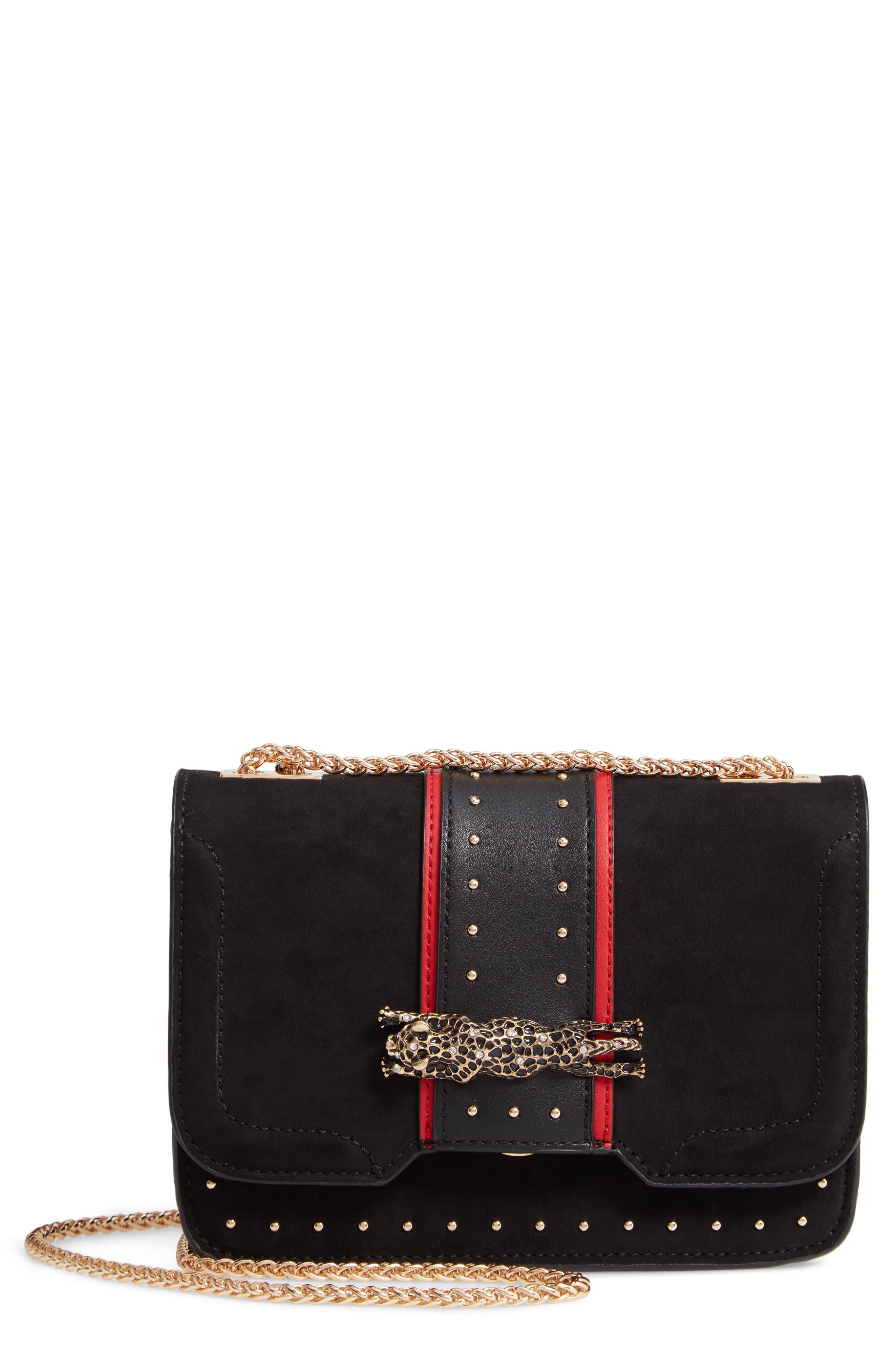 Panther Crossbody Bag,                         Main,                         color, BLACK