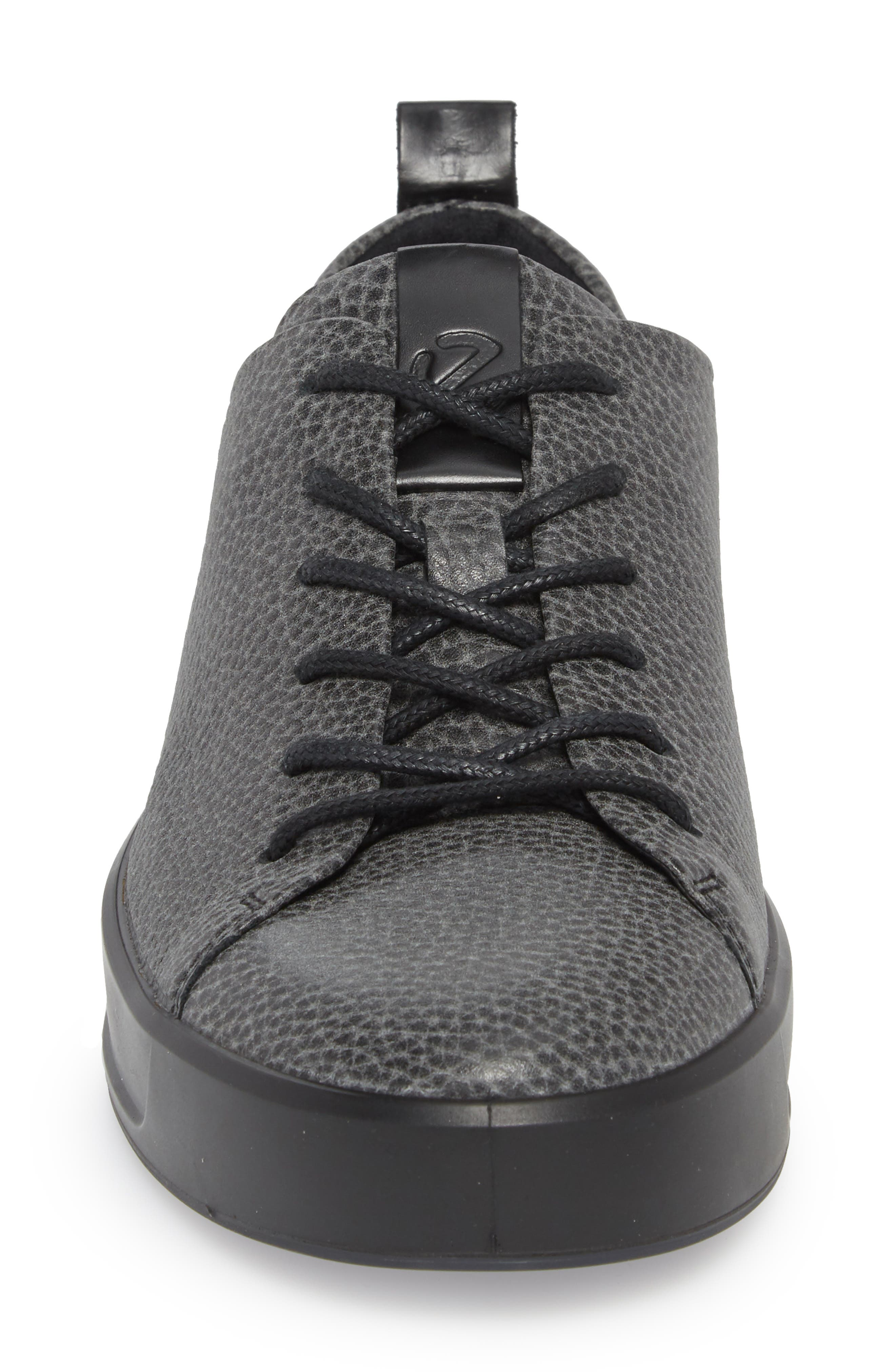 Soft 8 Tie II Low Top Sneaker,                             Alternate thumbnail 4, color,                             BLACK