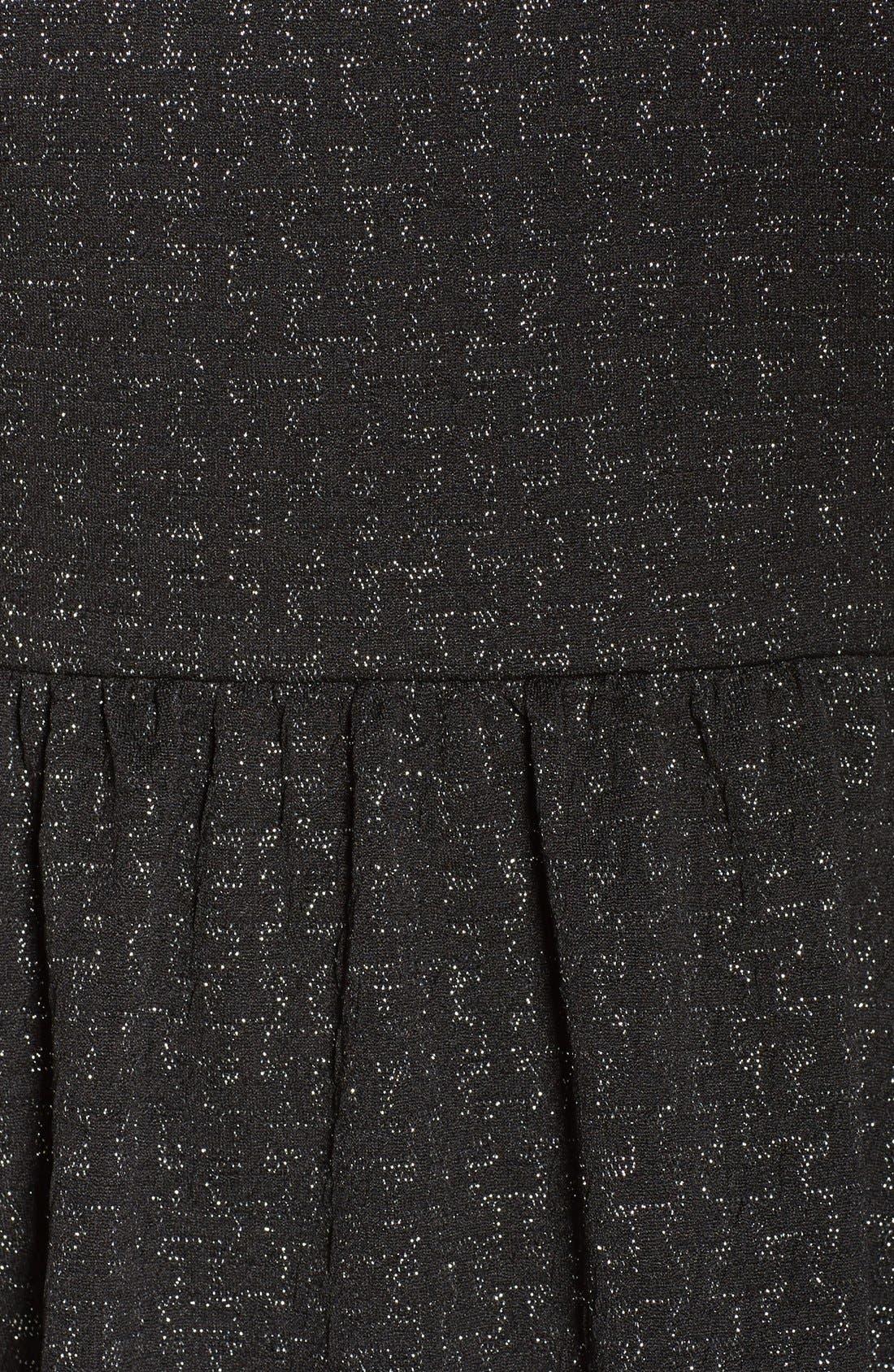 Embellished Stretch Fit & Flare Dress,                             Alternate thumbnail 6, color,                             004