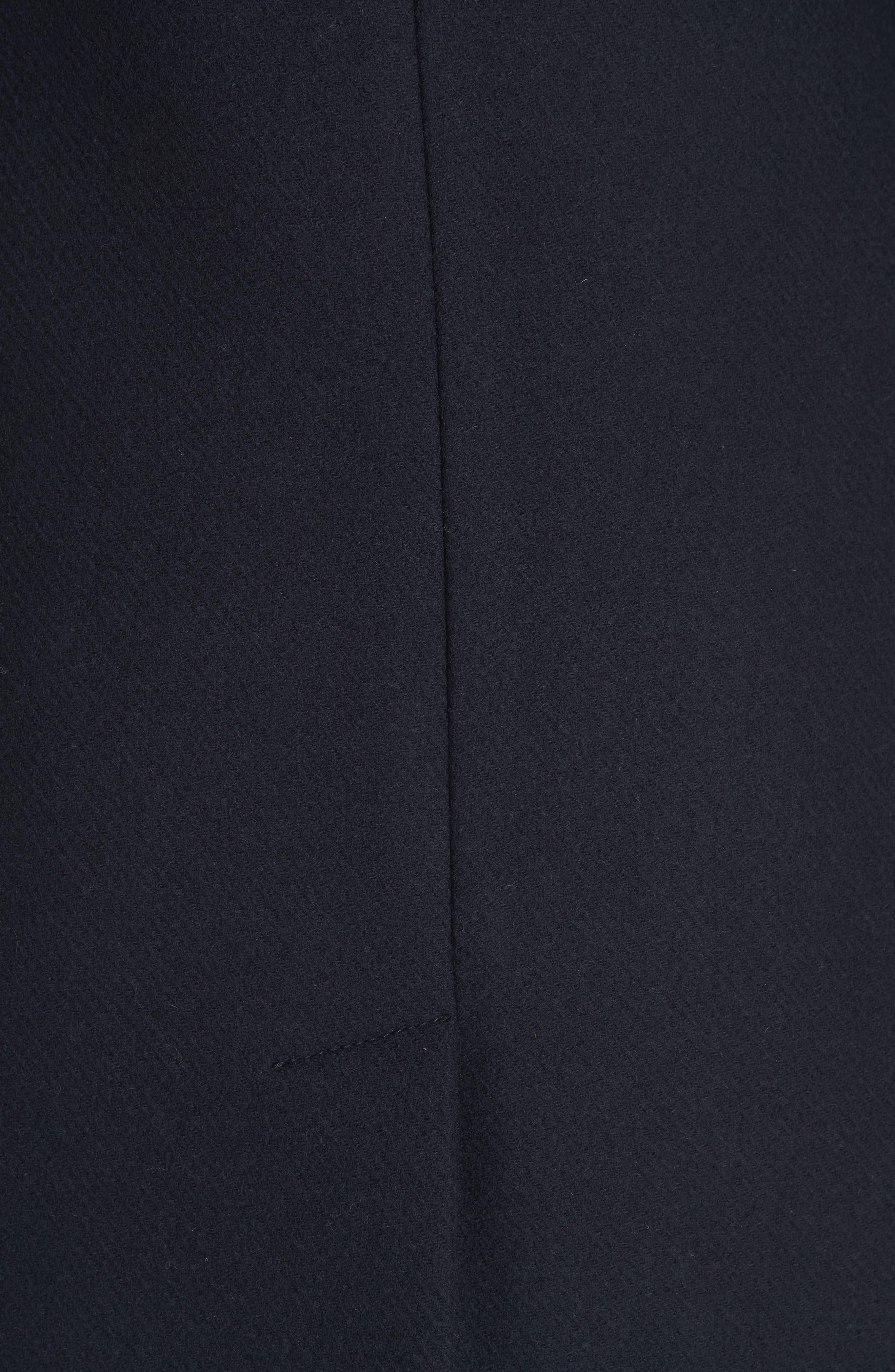 Knit Collar Wool Coat,                             Alternate thumbnail 6, color,                             INK