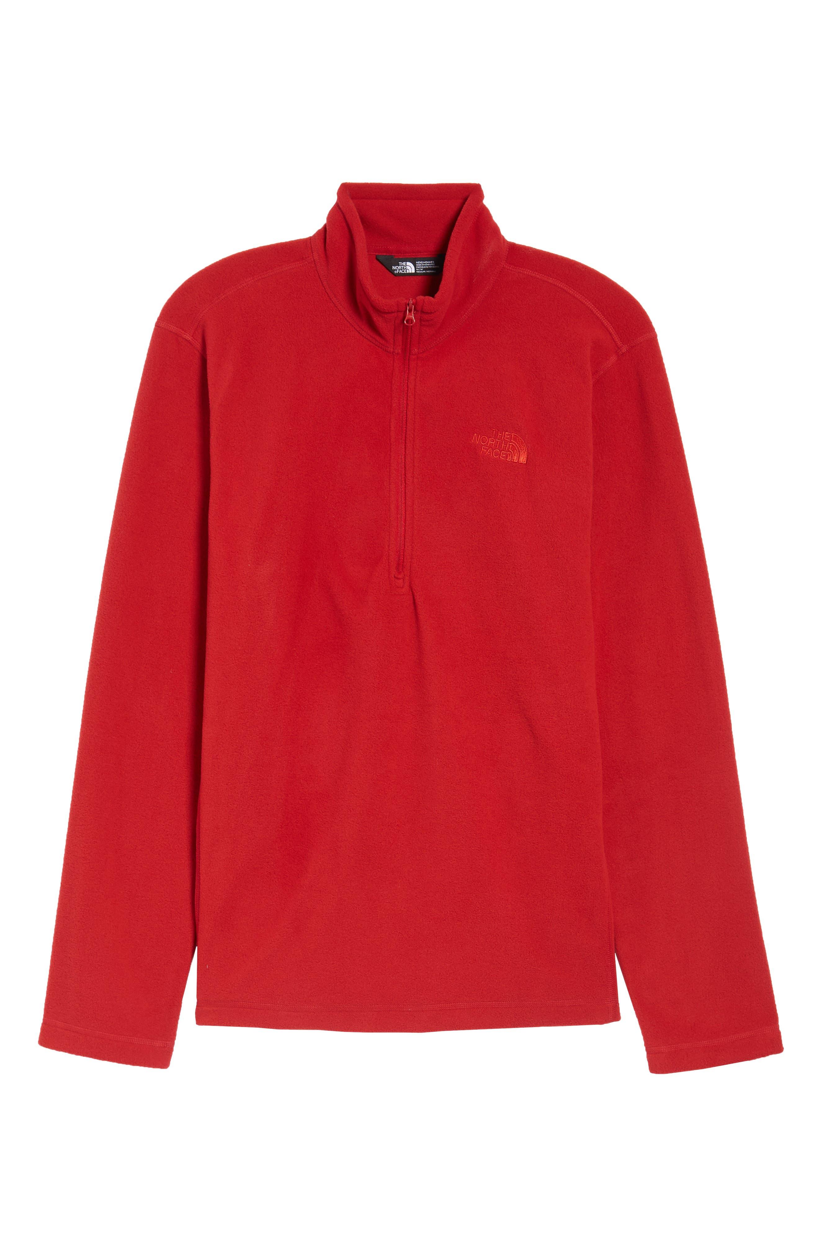 'TKA 100 Glacier' Quarter Zip Fleece Pullover,                             Alternate thumbnail 6, color,                             RAGE RED/ RAGE RED