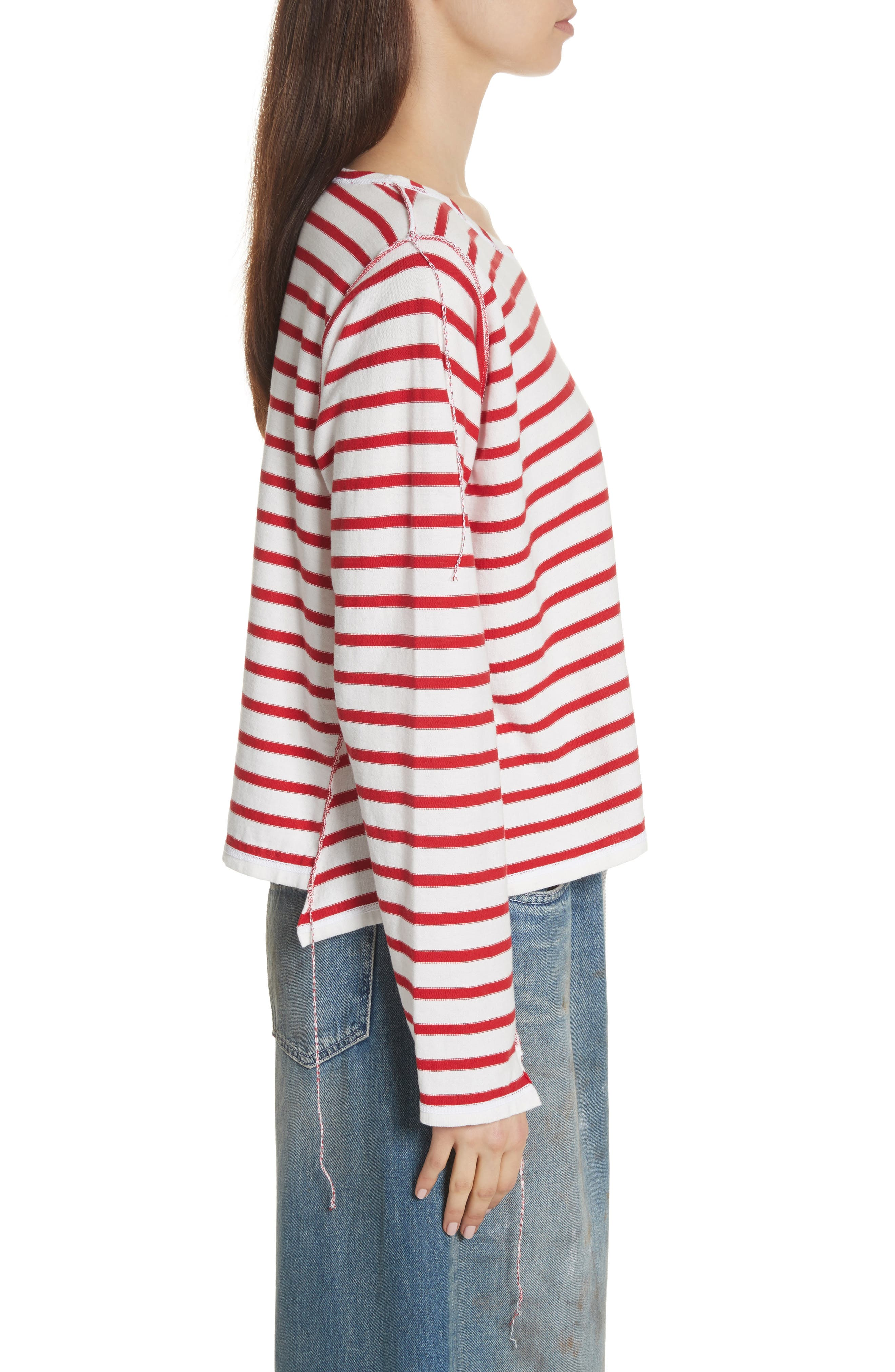 Inside Out Stripe Sweater,                             Alternate thumbnail 3, color,                             600