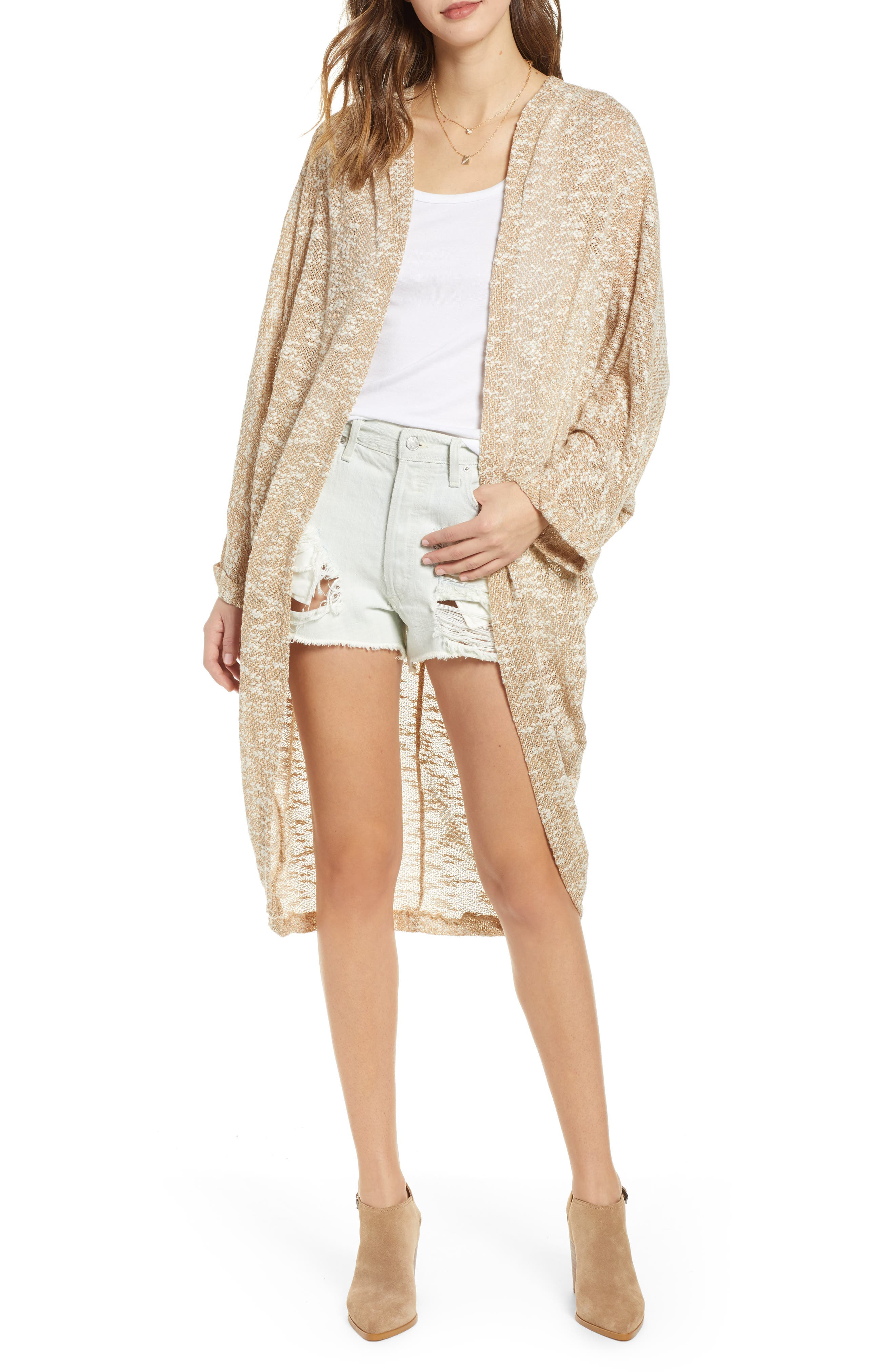 Free People Promenade Cocoon Cardigan, Size One Size - Beige