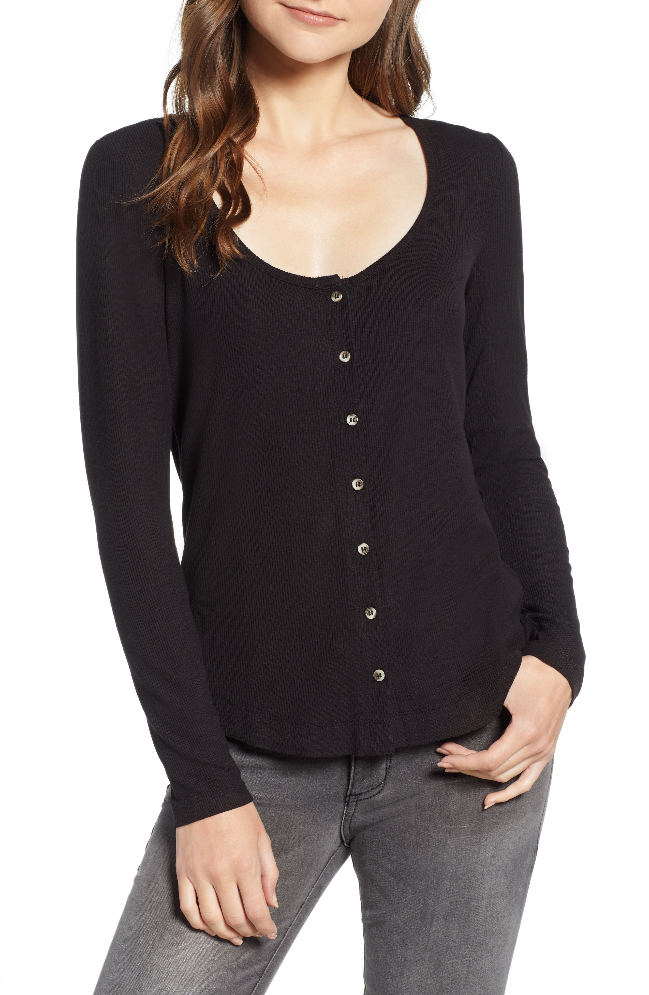 Button Front Top,                         Main,                         color, 001