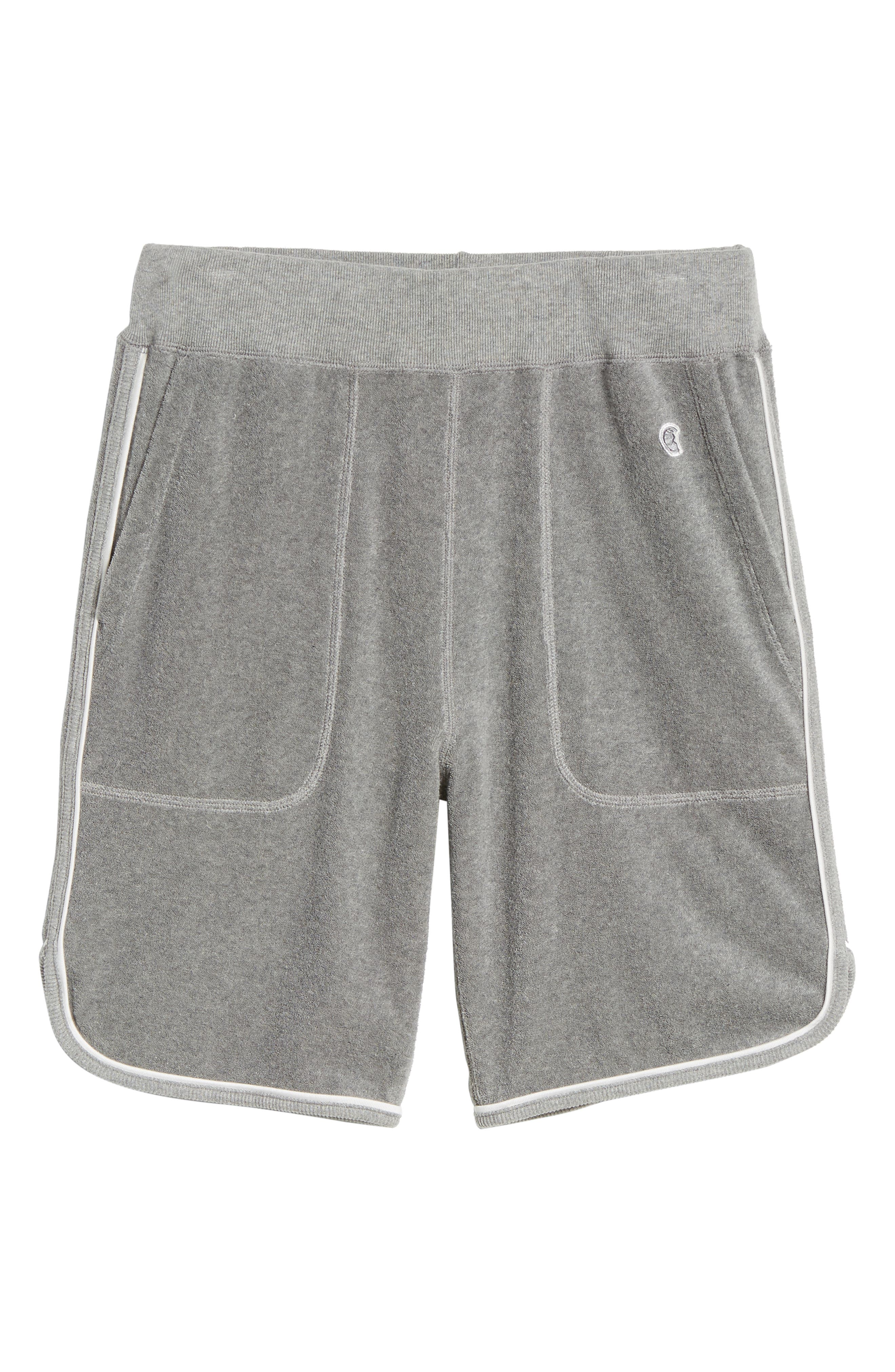 x Champion Piped Terry Shorts,                             Alternate thumbnail 6, color,                             GREY
