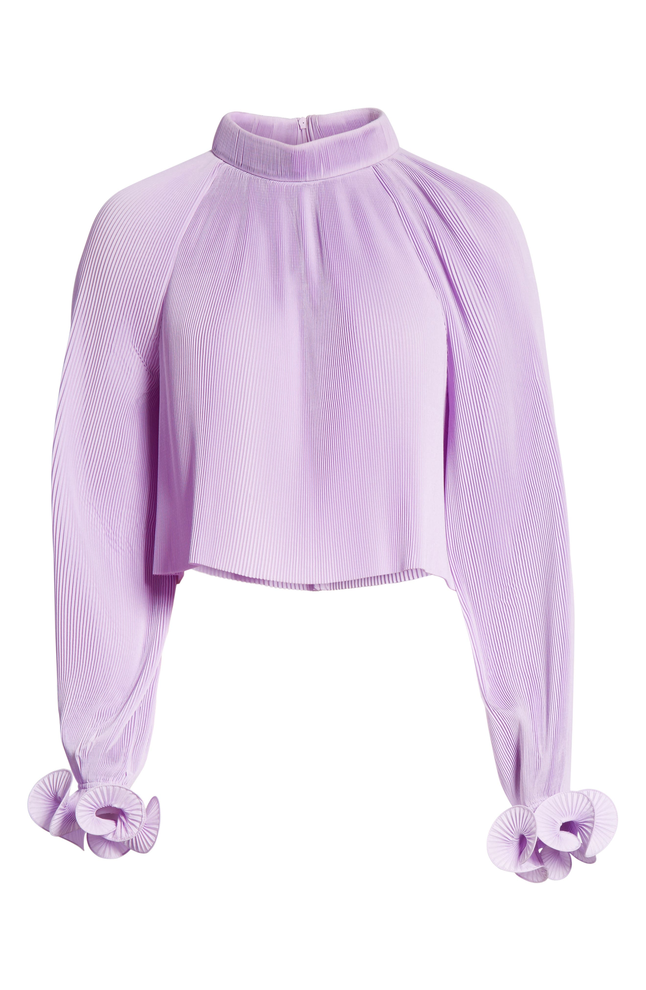 Pleated Crop Top,                             Alternate thumbnail 24, color,