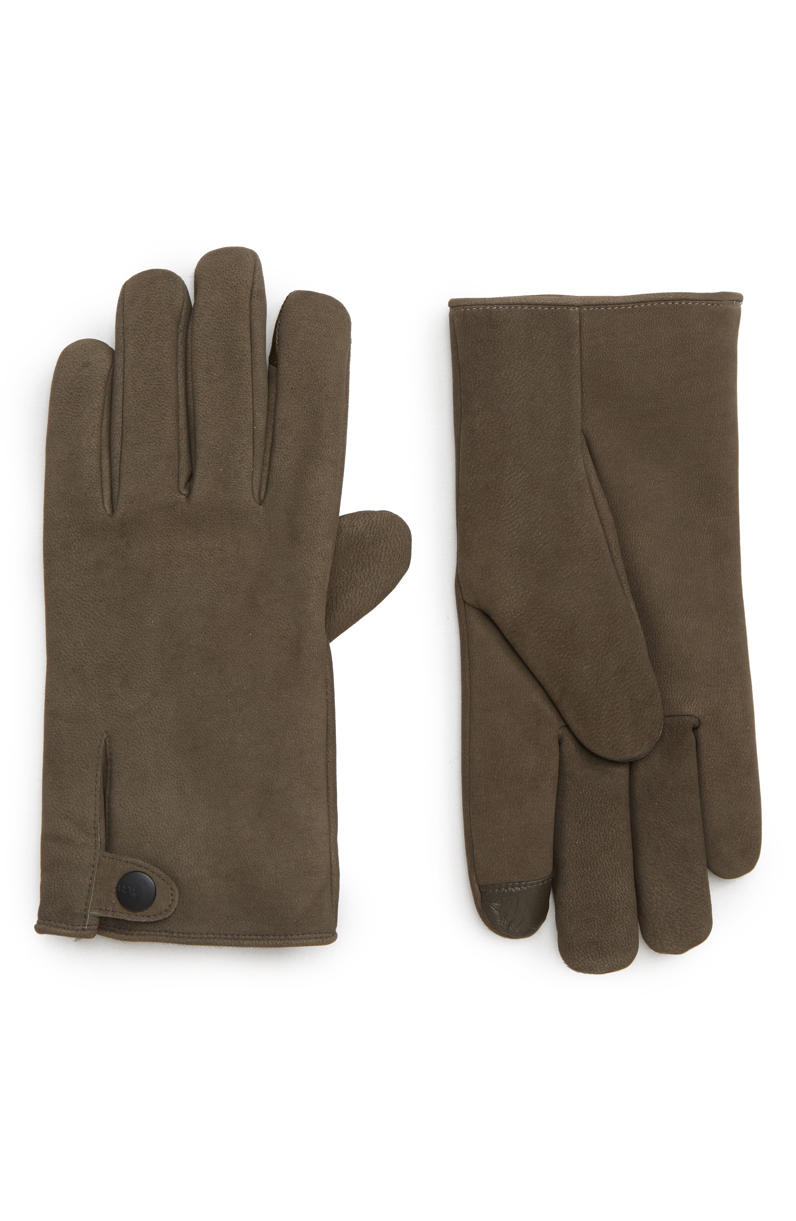 Ugg Leather Gloves, Brown