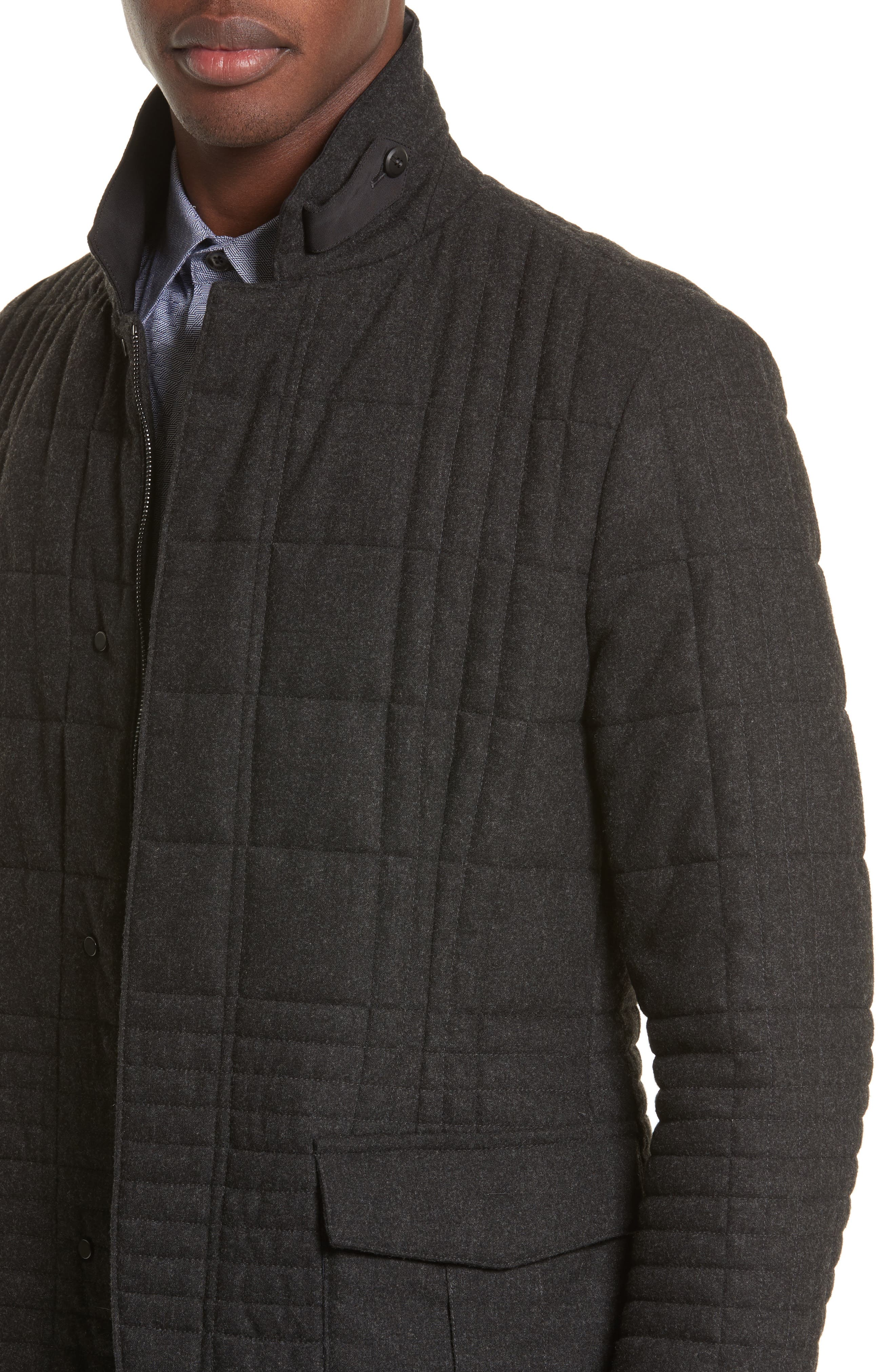Quilted Field Jacket,                             Alternate thumbnail 4, color,                             024