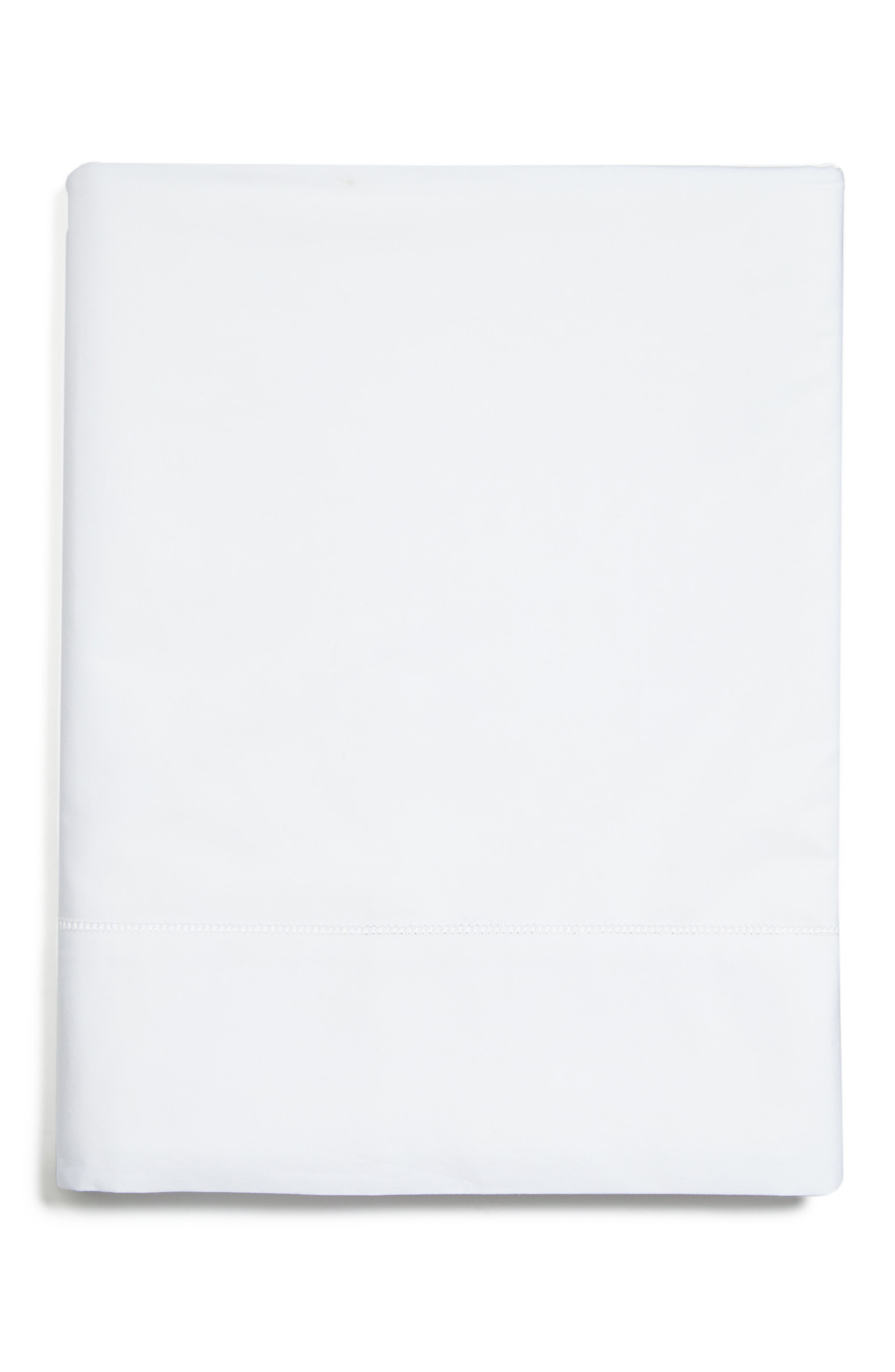 Analisa 200 Thread Count Flat Sheet,                             Main thumbnail 1, color,                             WHITE