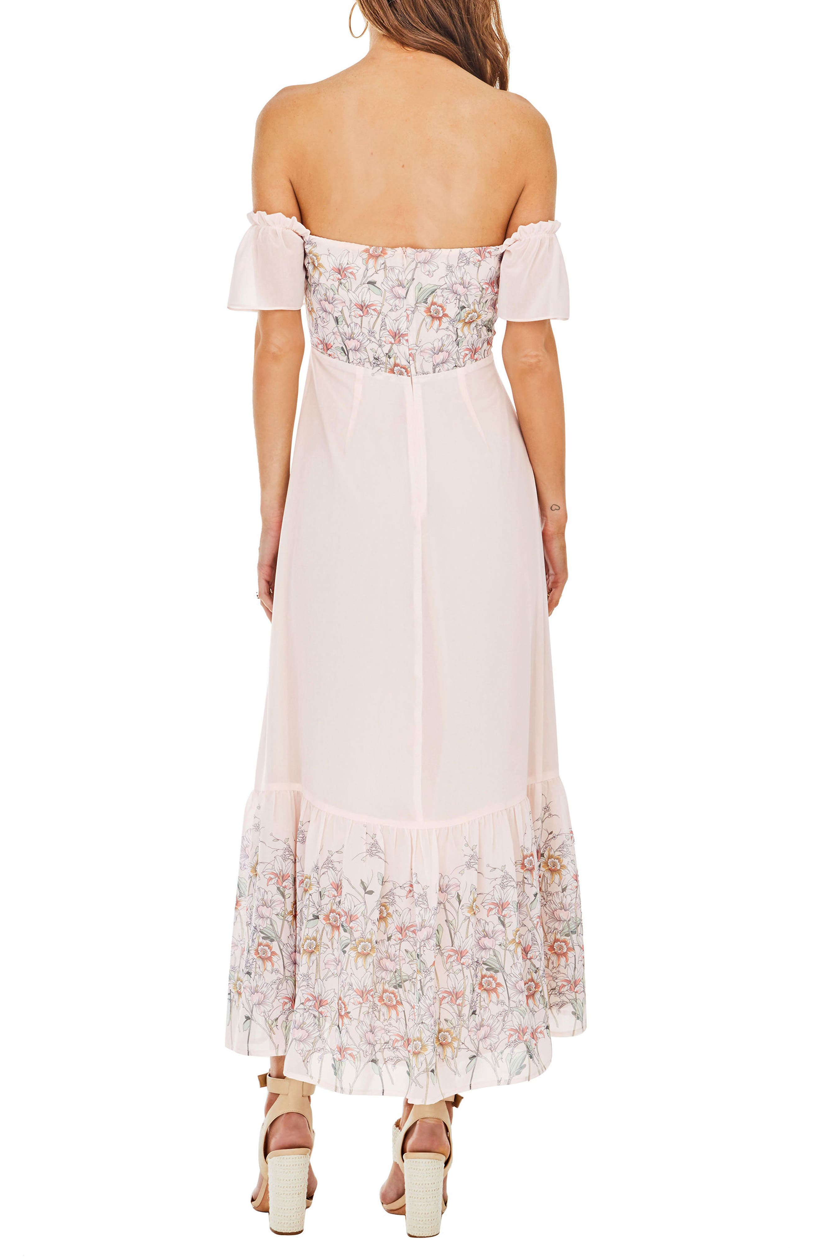 Angelina Off the Shoulder Maxi Dress,                             Alternate thumbnail 2, color,                             650