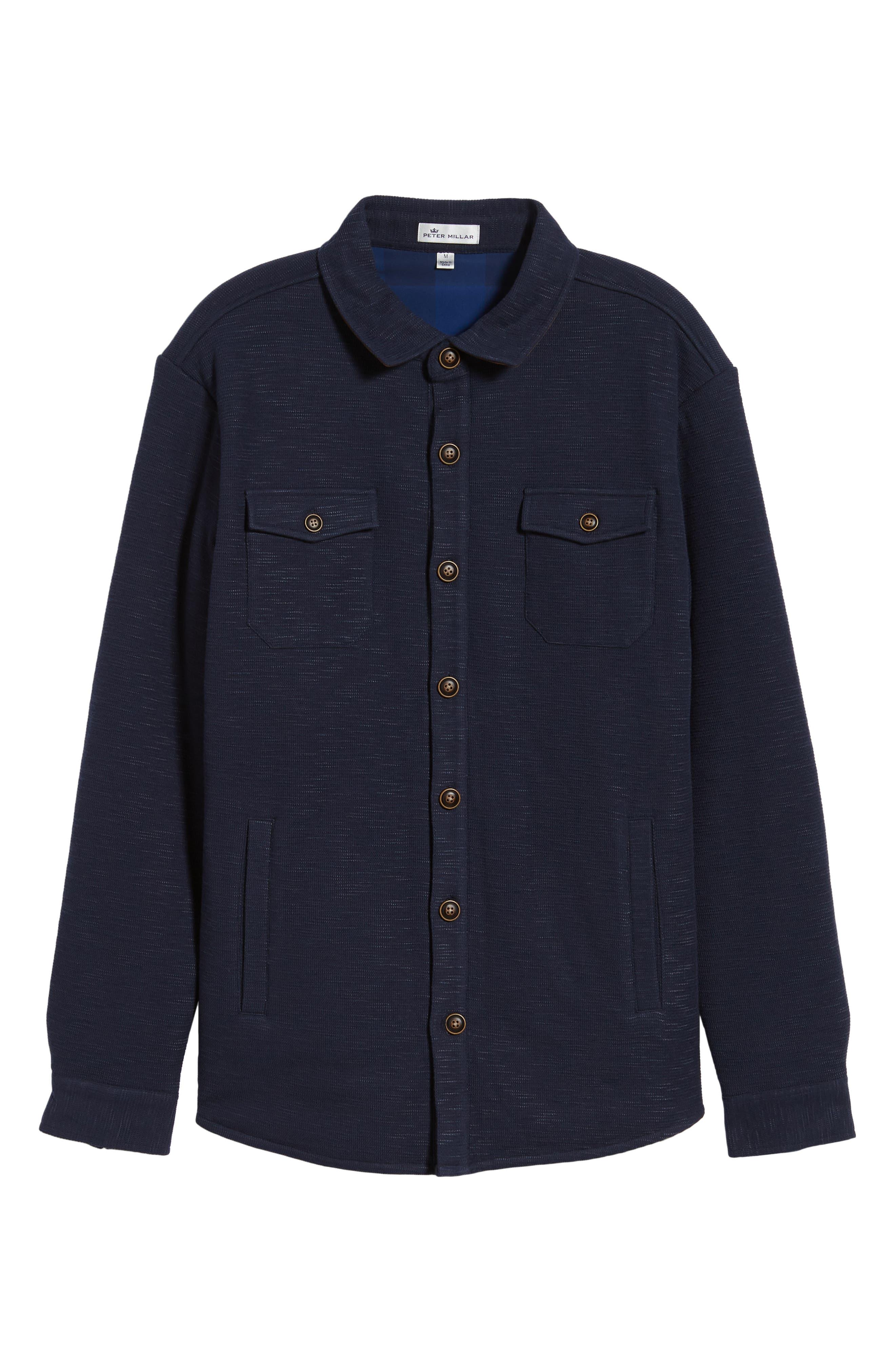 PETER MILLAR,                             Mountainside Shirt Jacket,                             Alternate thumbnail 5, color,                             ATLANTIC BLUE