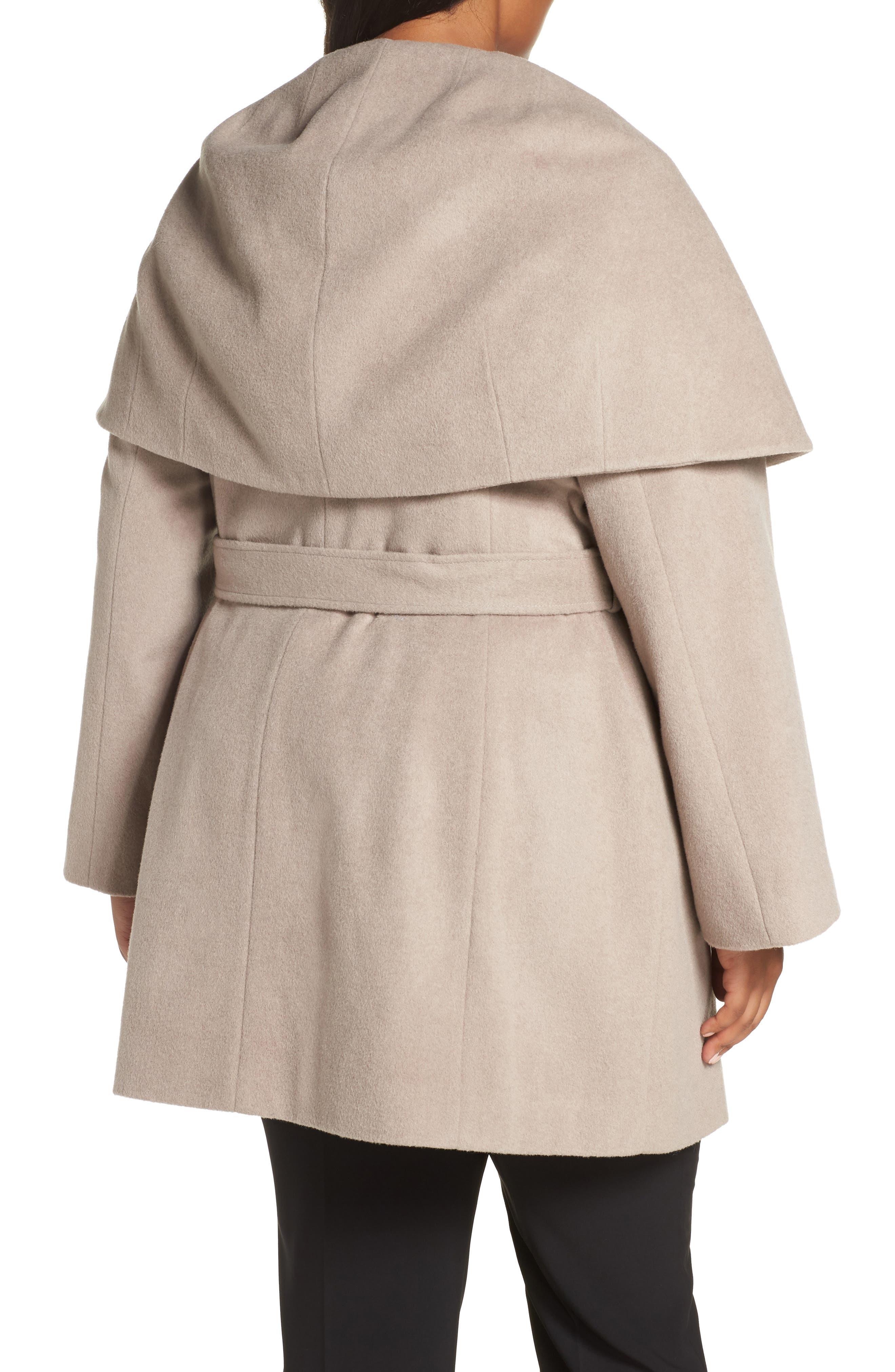 Marla Cutaway Wrap Coat with Oversize Collar,                             Alternate thumbnail 5, color,