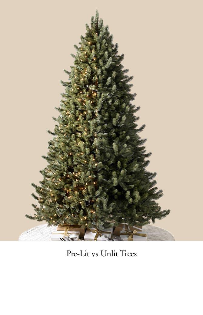 Pre-Lit vs Unlit Trees