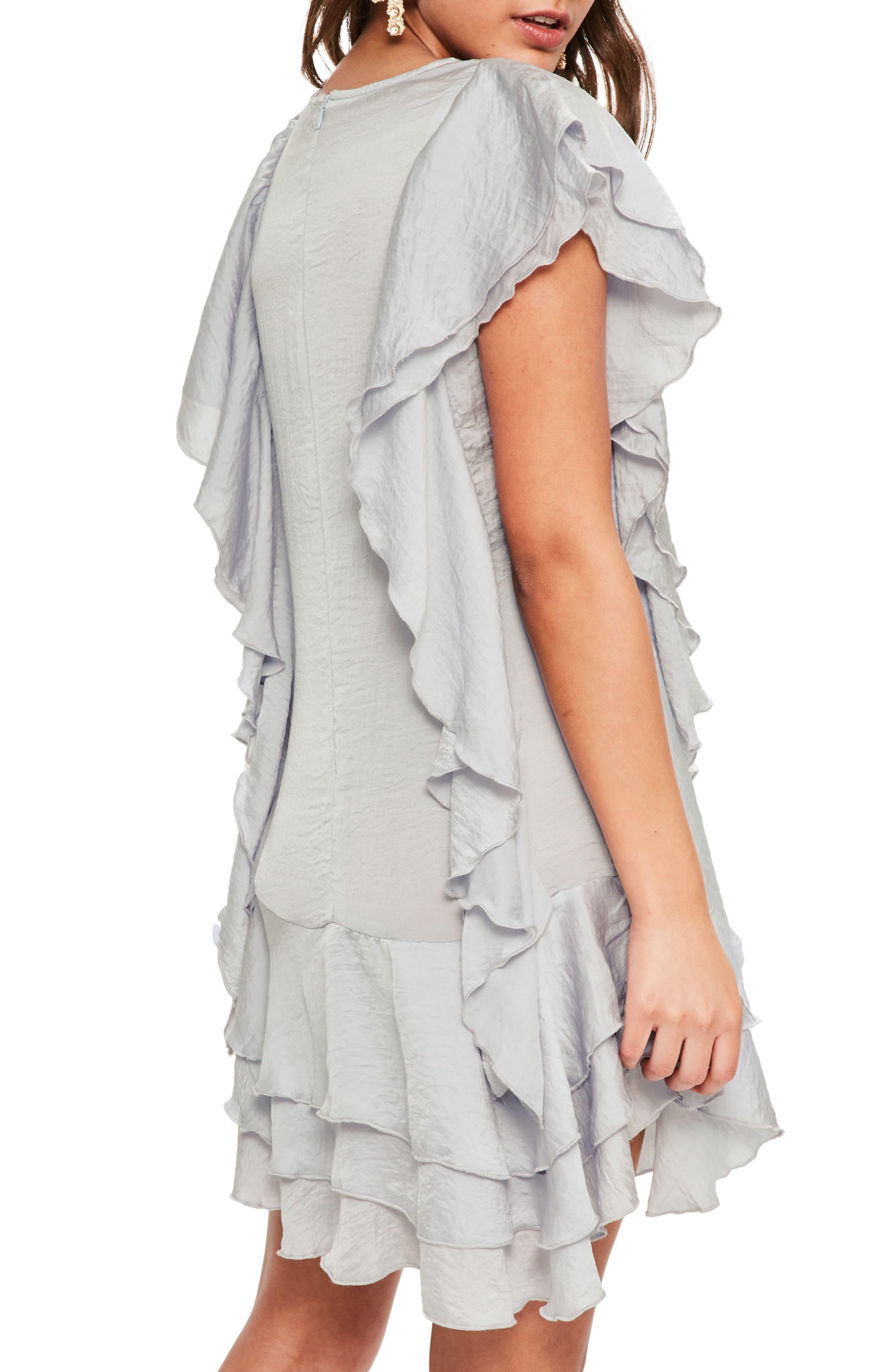 Layered Ruffle Minidress,                             Alternate thumbnail 2, color,                             060