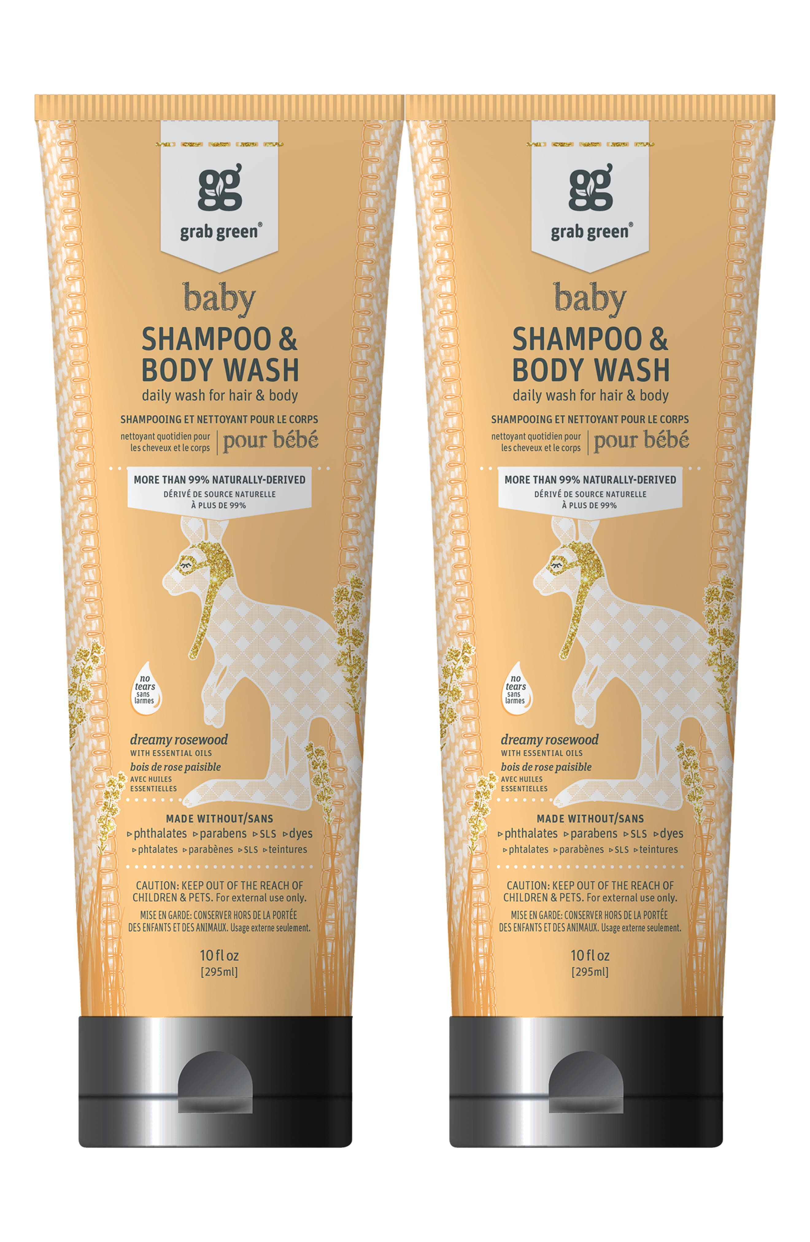Grab Green Dreamy Rosewood Baby Shampoo  Body Wash Duo