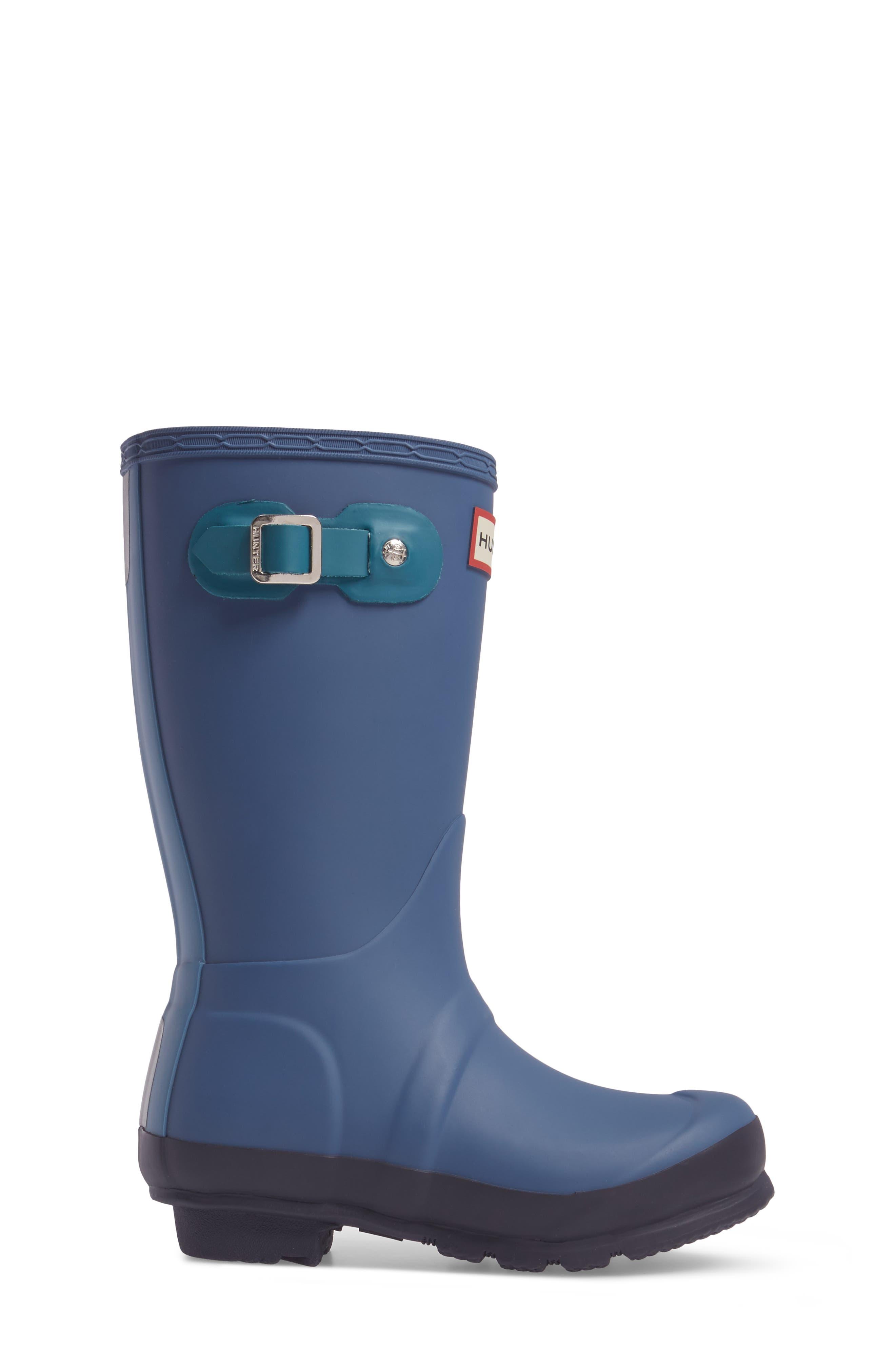 'Original Contrast Sole' Waterproof Rain Boot,                             Alternate thumbnail 3, color,                             400