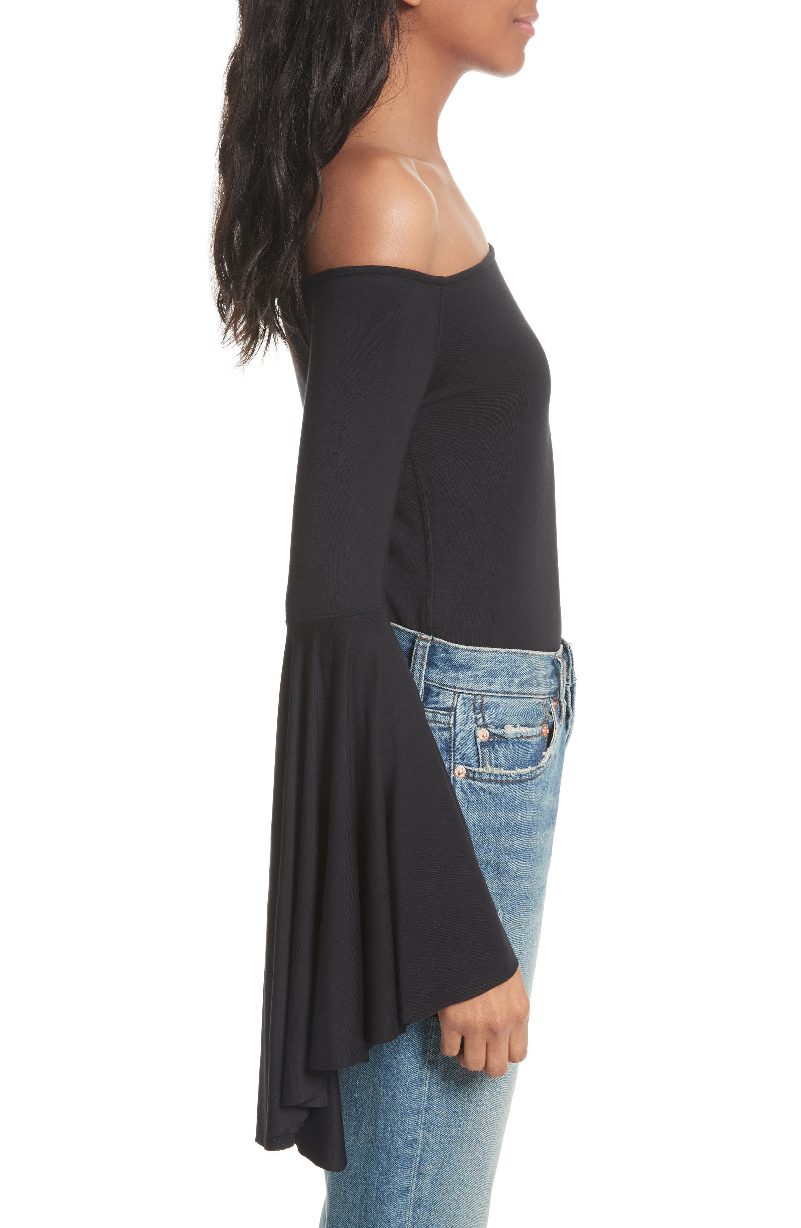 Birds of Paradise Off the Shoulder Top,                             Alternate thumbnail 8, color,