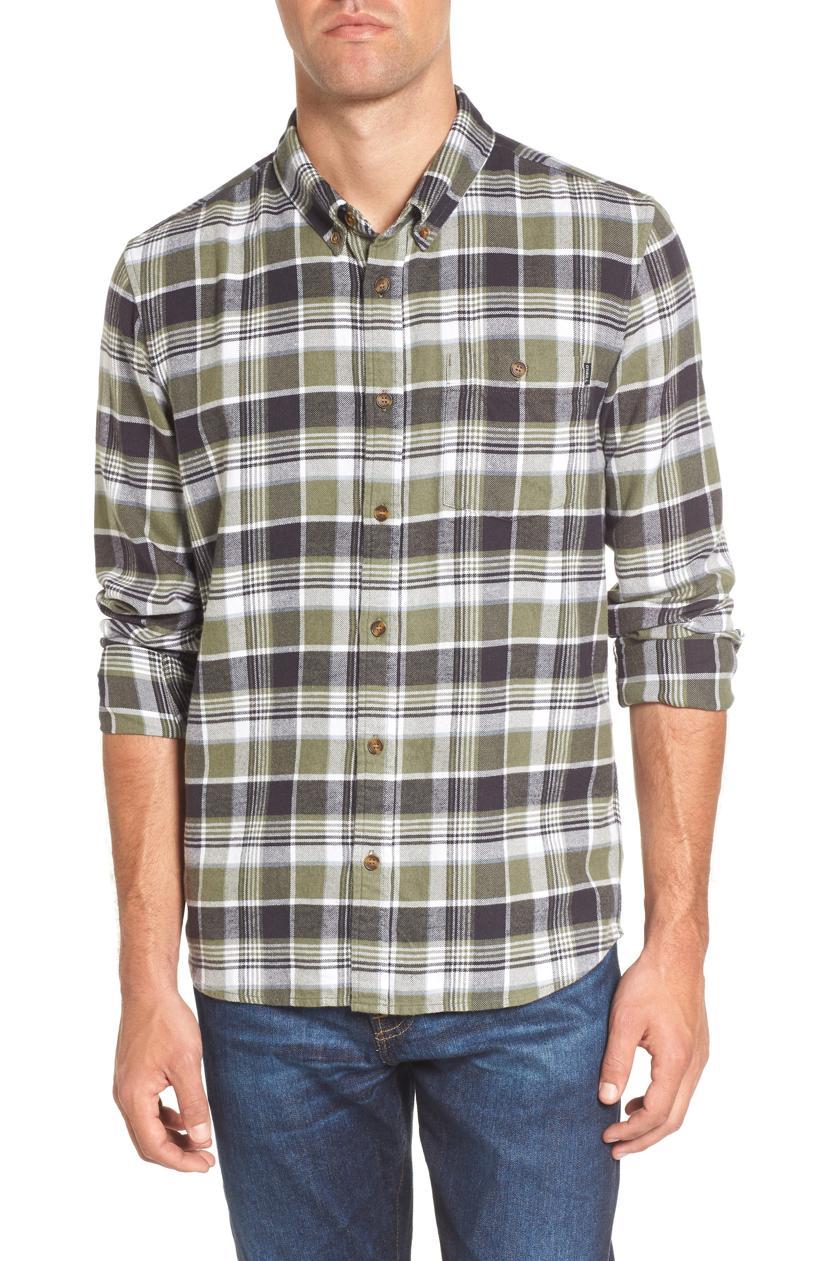 Redmond Regular Fit Plaid Flannel Shirt,                         Main,                         color, 301
