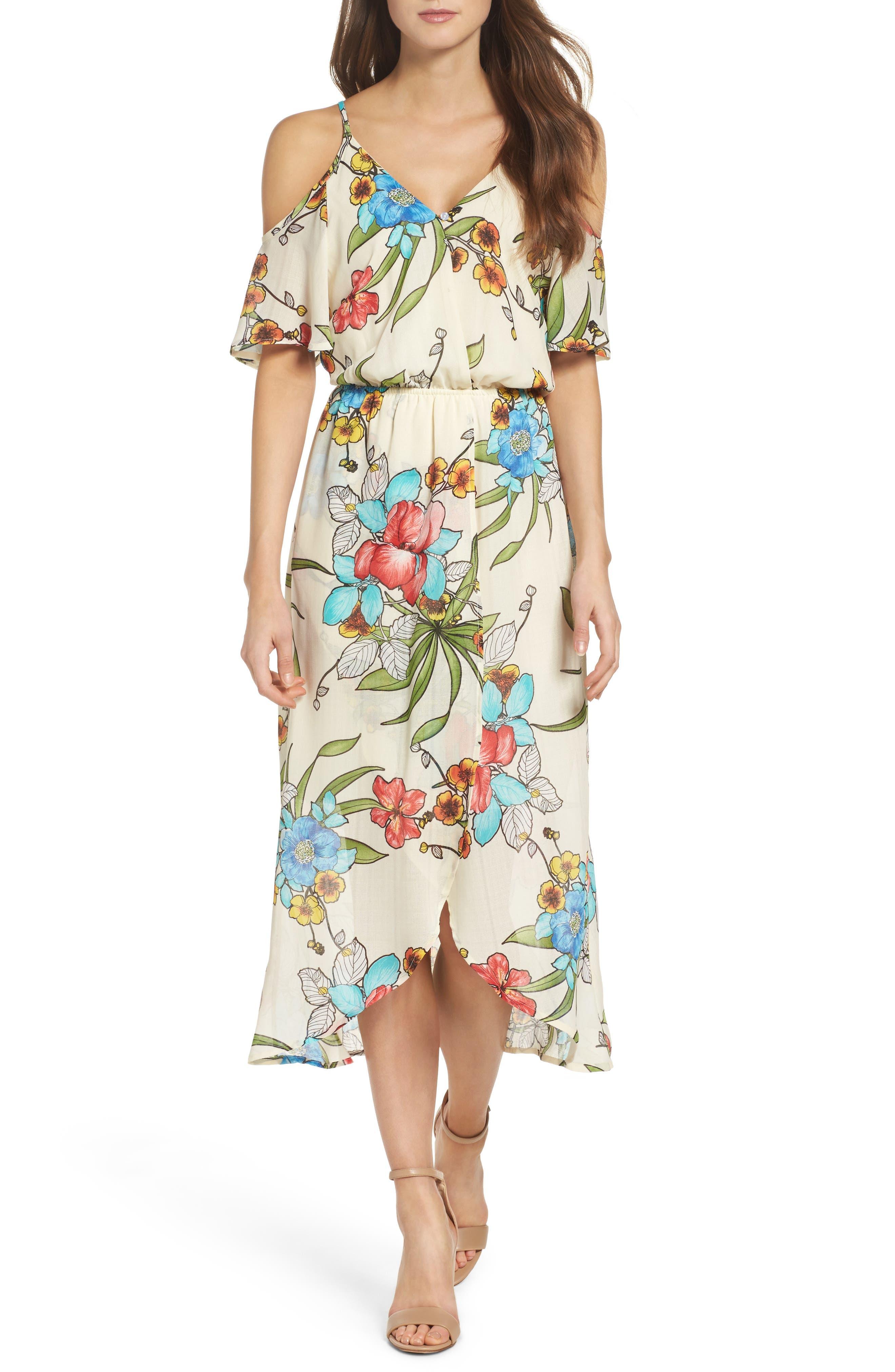 Cold Shoulder Maxi Dress,                         Main,                         color, 900