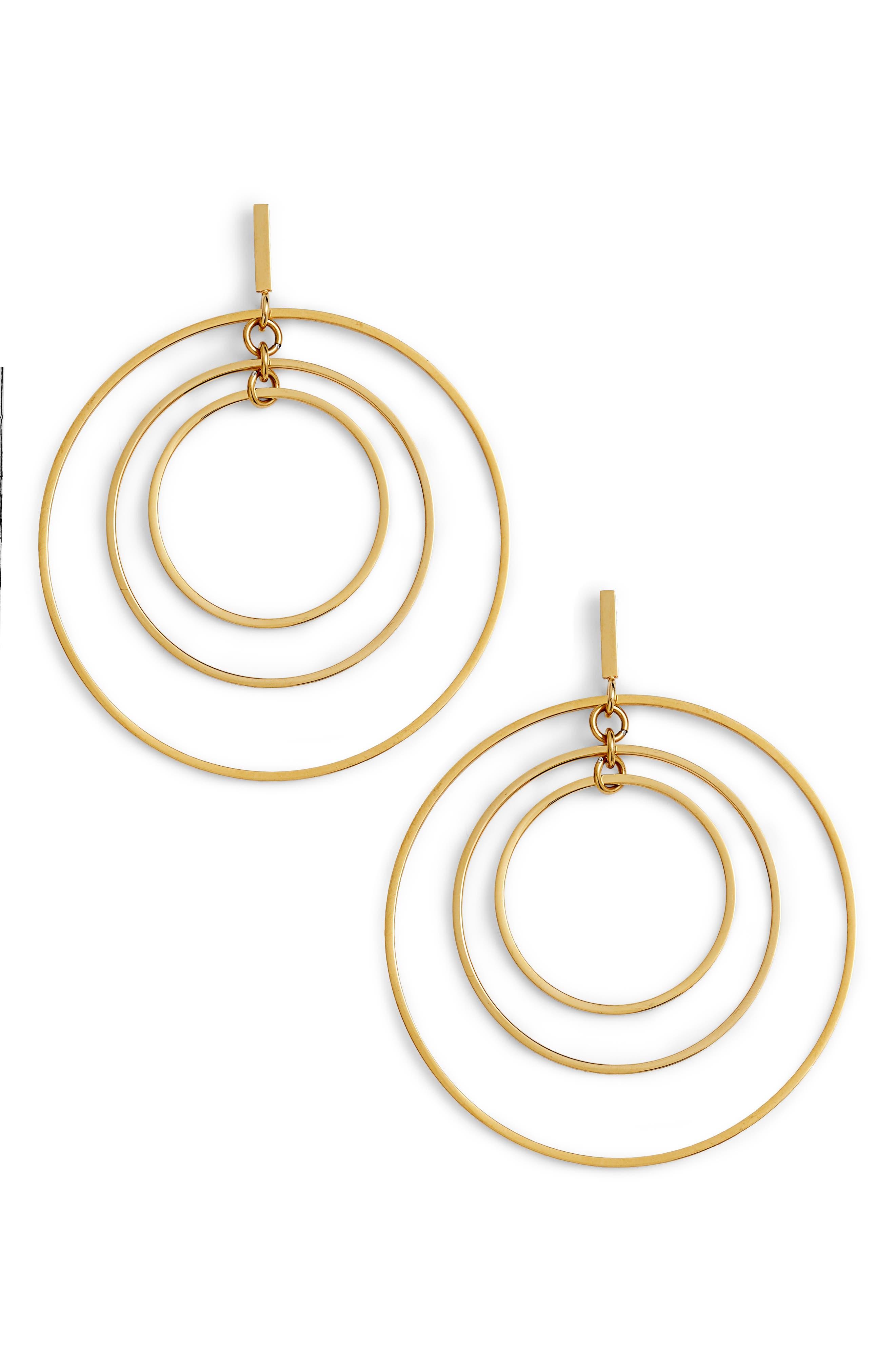 Wire Hoop Earrings,                             Main thumbnail 1, color,                             710