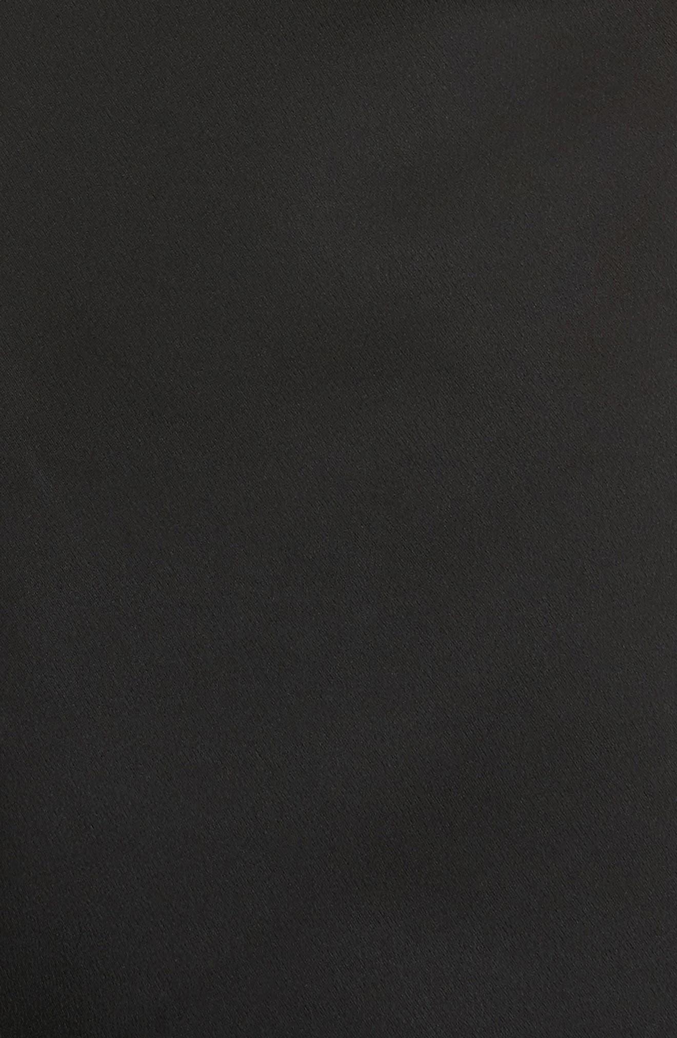 Leigh Grommet Midi Dress,                             Alternate thumbnail 5, color,                             001