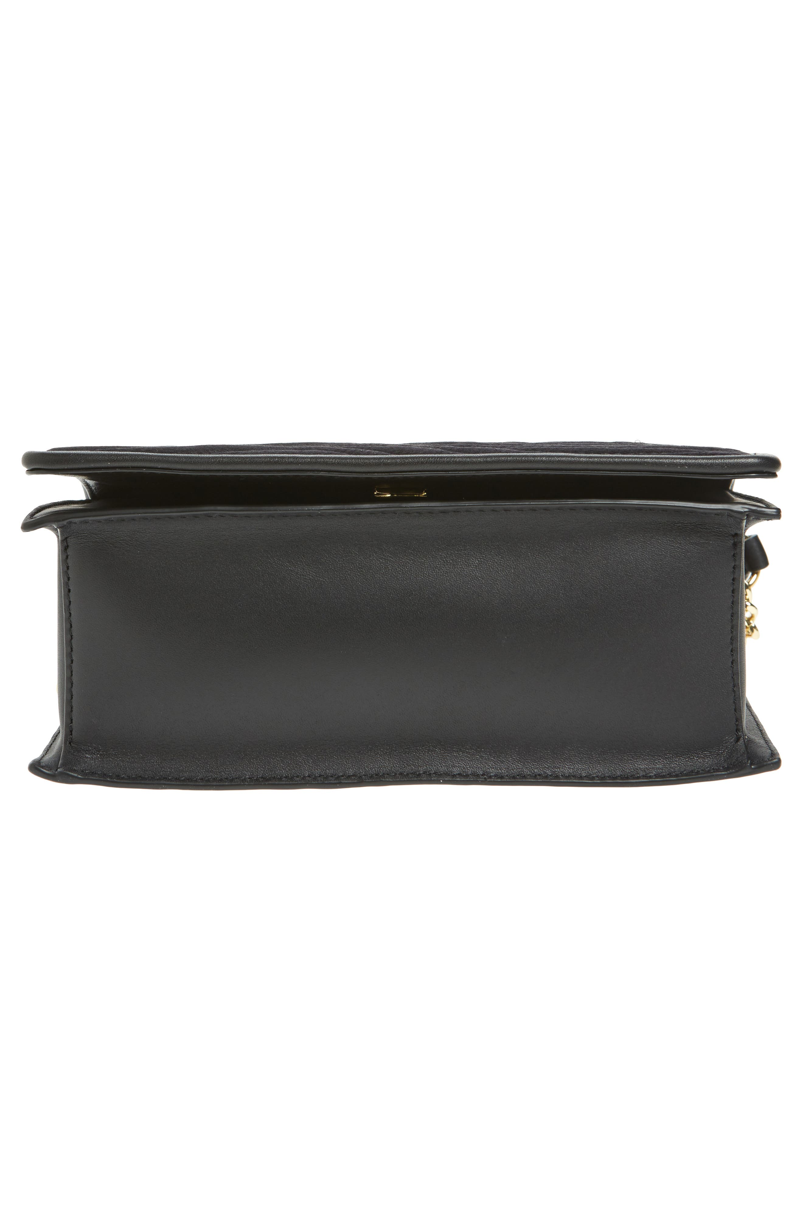Bonne Soirée Quilted Top Handle Bag,                             Alternate thumbnail 6, color,                             001