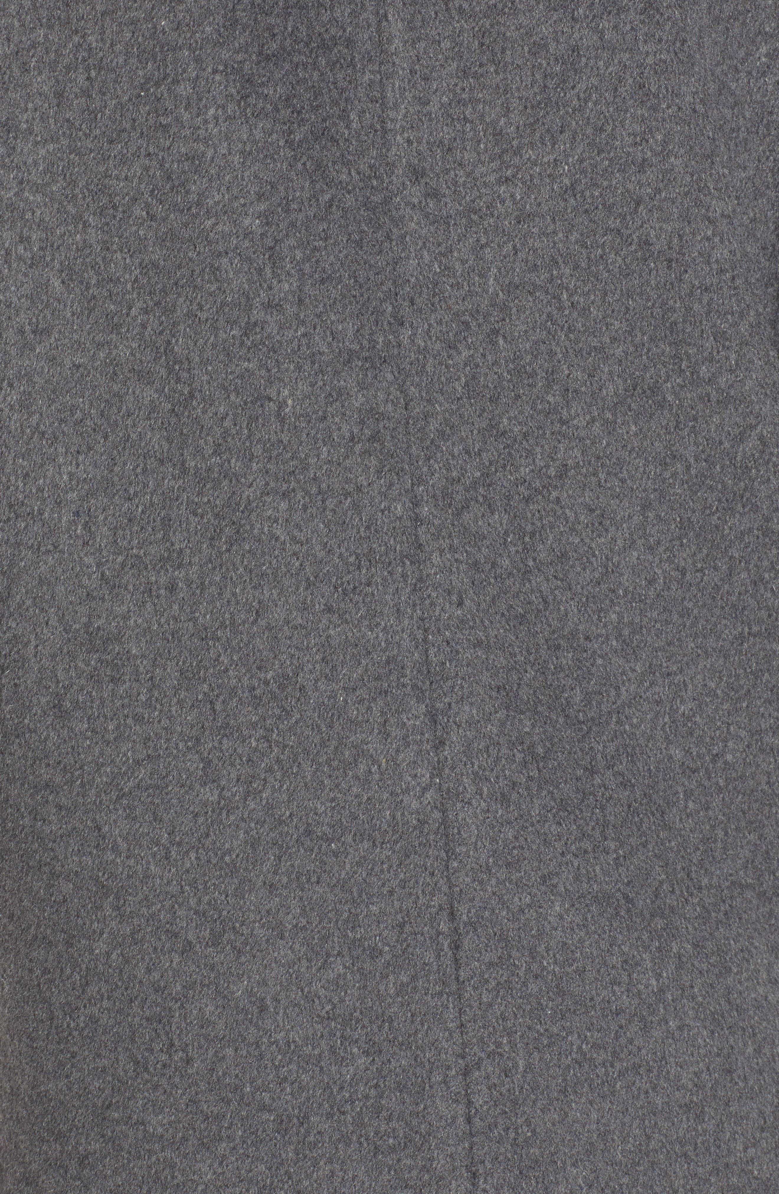 Long Open Front Coat,                             Alternate thumbnail 7, color,                             CHARCOAL GREY