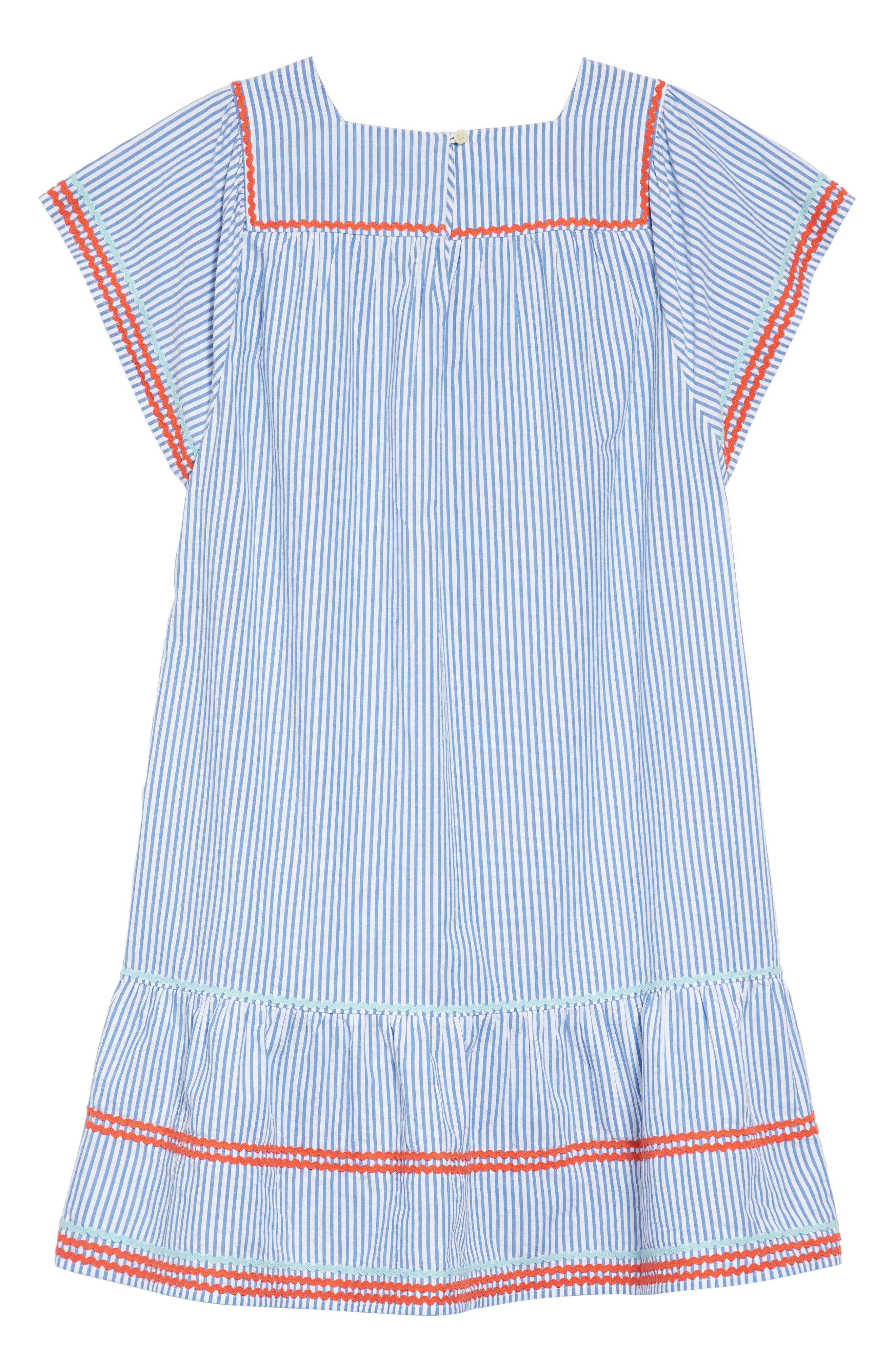 Bardot Rickrack Seersucker Dress,                             Alternate thumbnail 2, color,                             400