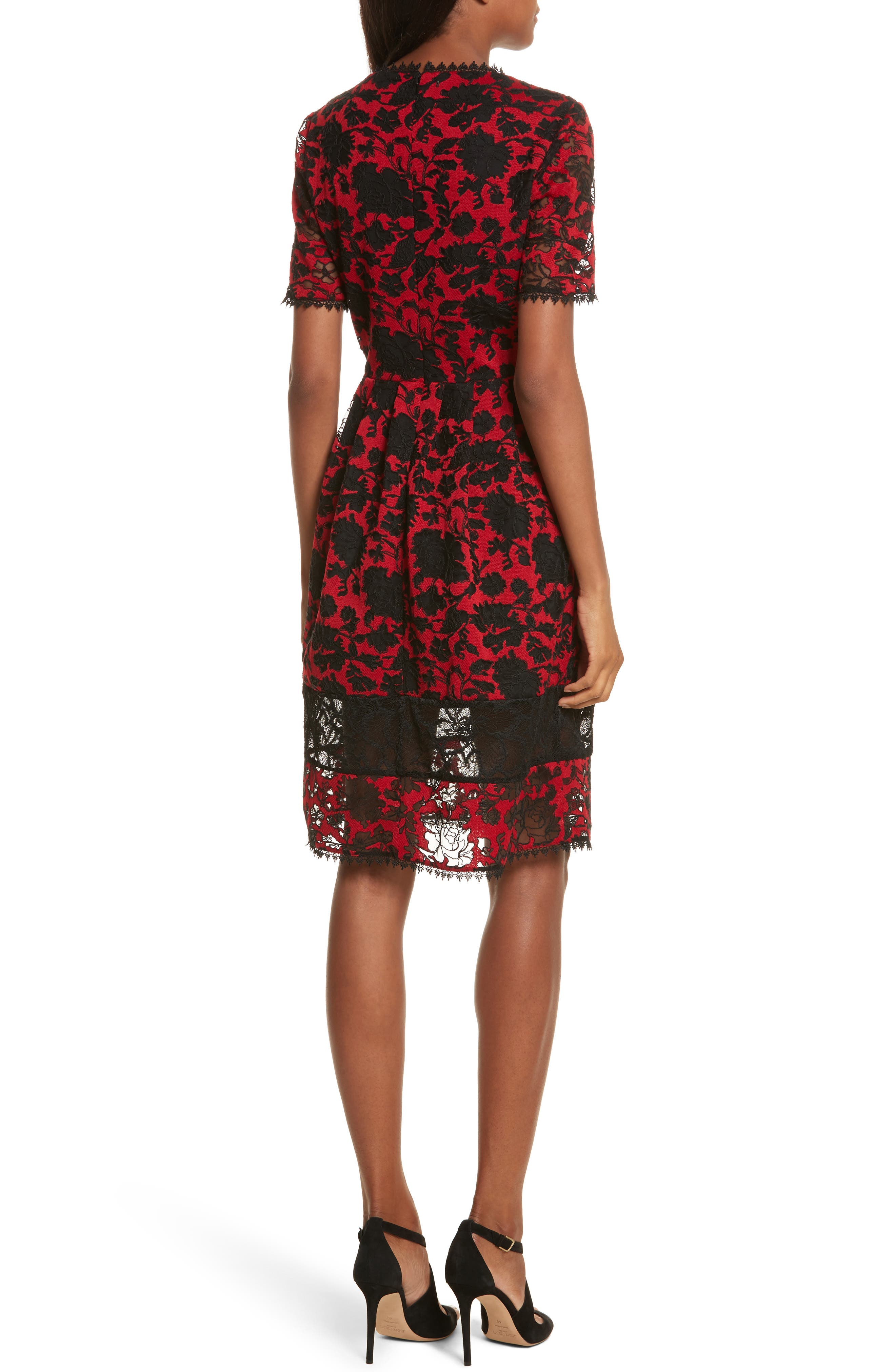 Embroidered Tulle Dress,                             Alternate thumbnail 2, color,                             610