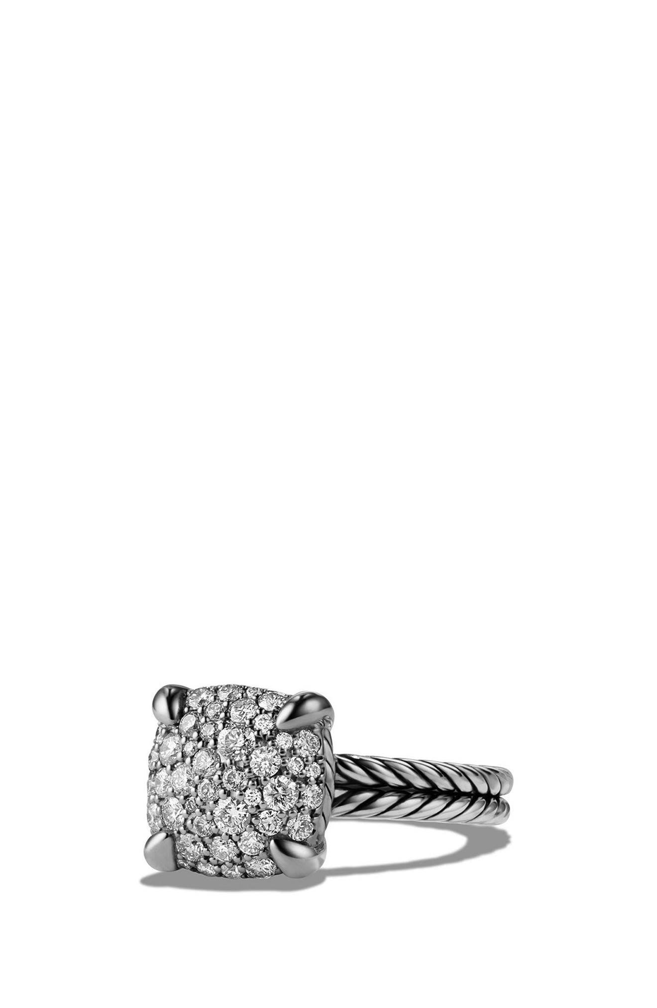 'Châtelaine' Ring with Diamonds,                             Alternate thumbnail 6, color,                             SILVER