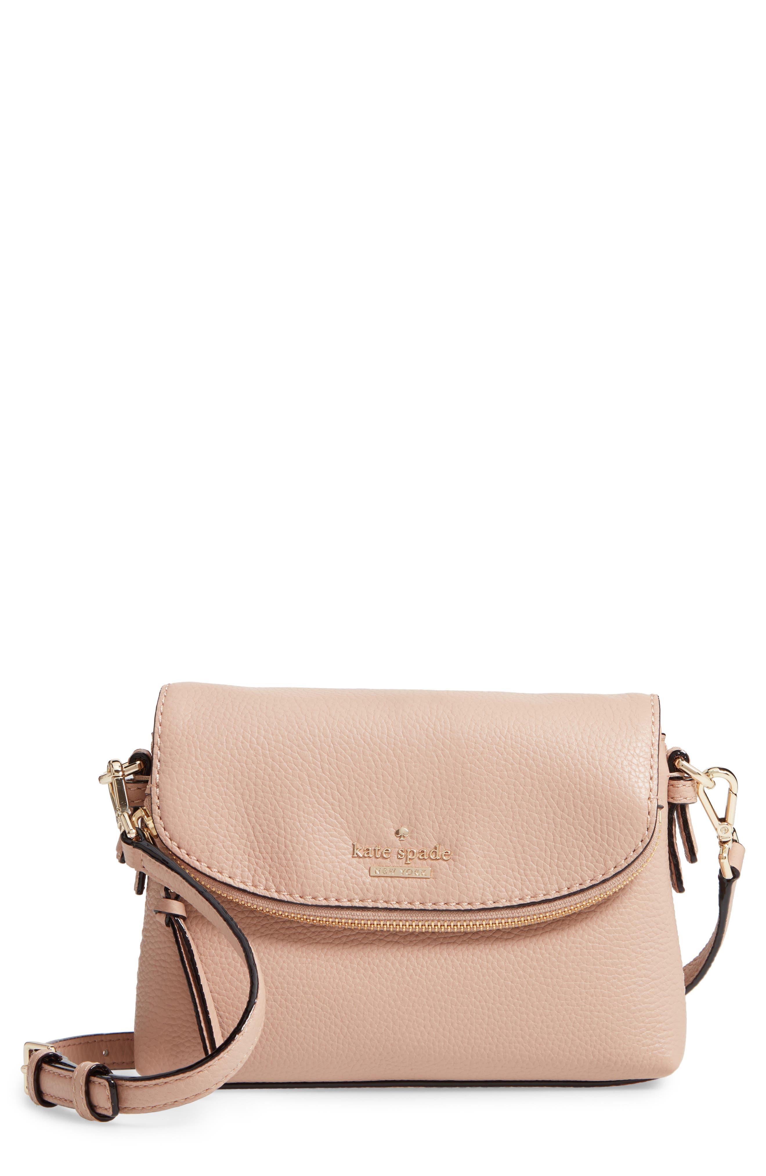 KATE SPADE NEW YORK jackson street small harlyn leather crossbody bag, Main, color, 253