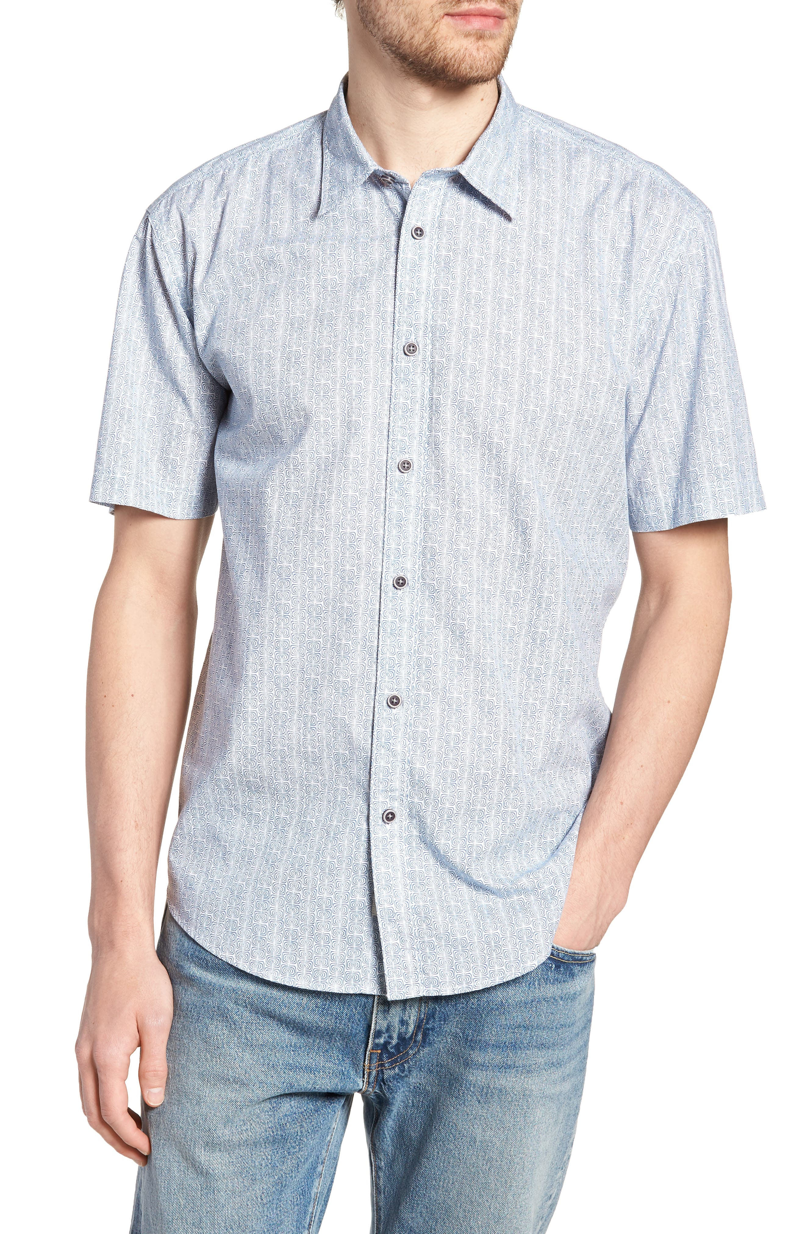 Jacurre Regular Fit Short Sleeve Sport Shirt,                             Main thumbnail 1, color,                             462