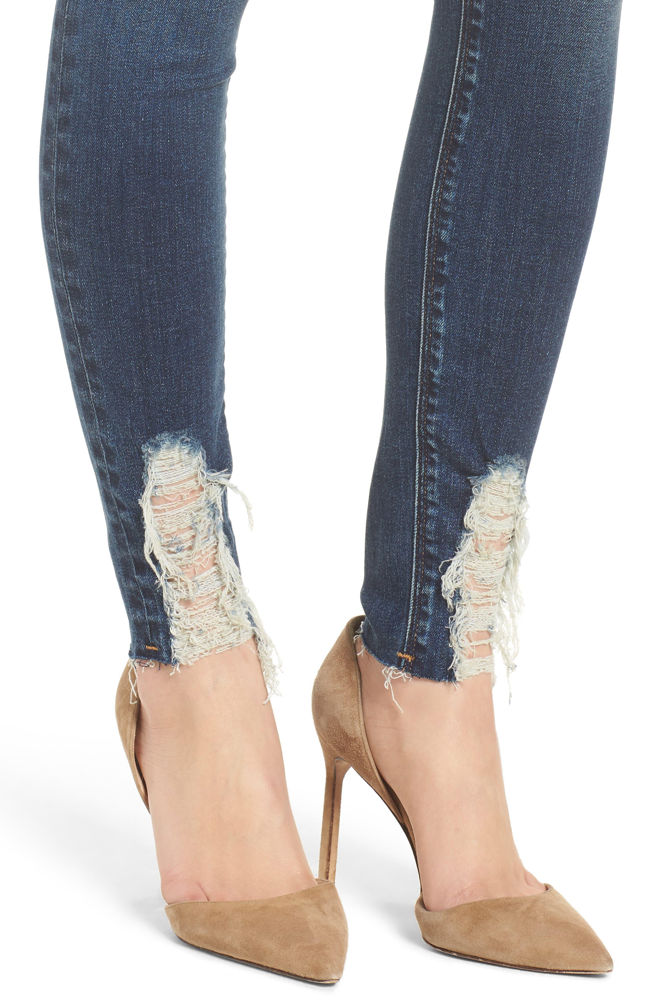 Hudson Barbara High Waist Ankle Skinny Jeans,                             Alternate thumbnail 4, color,                             401