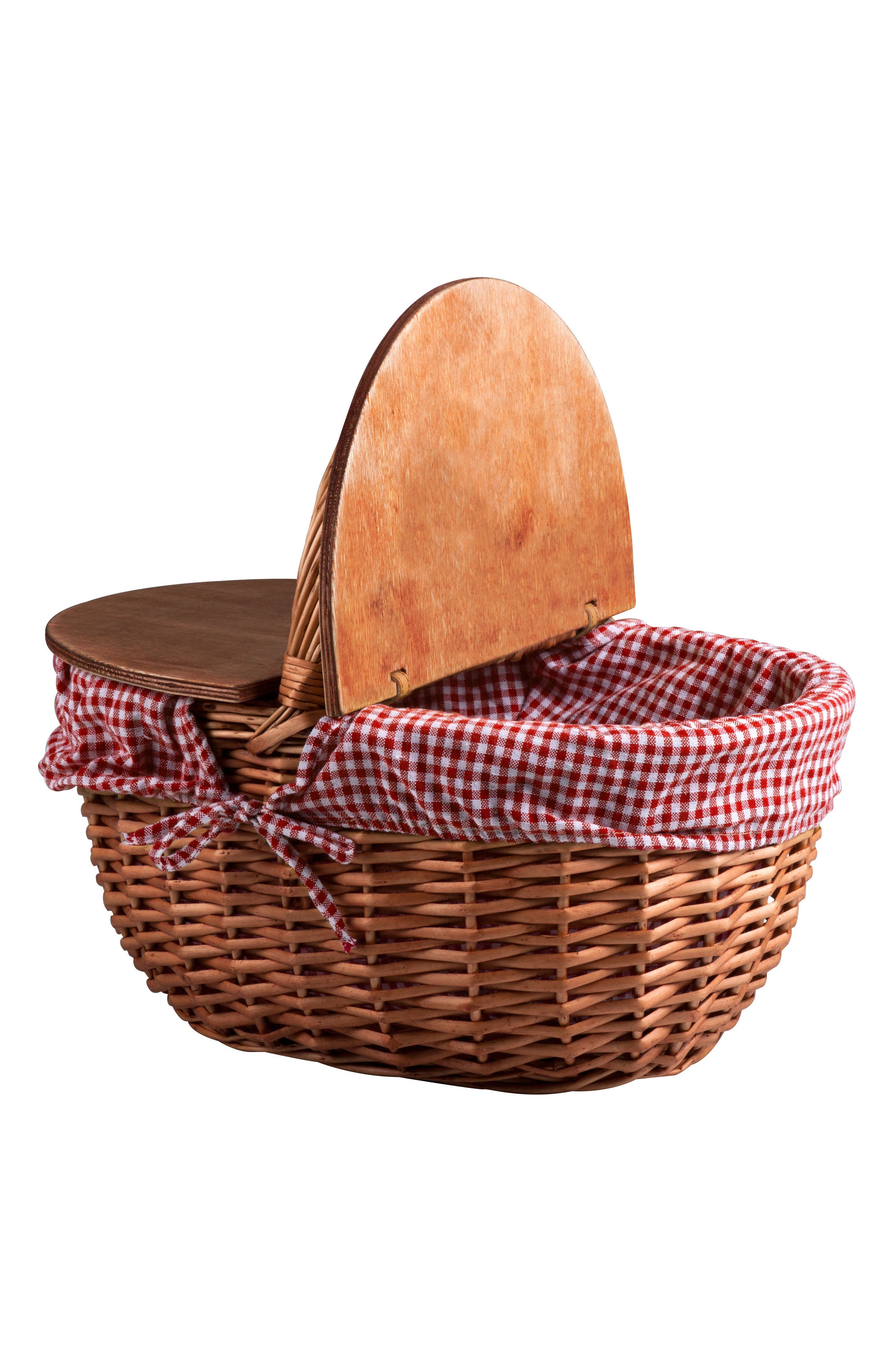 Country Wicker Picnic Basket,                             Alternate thumbnail 3, color,                             200