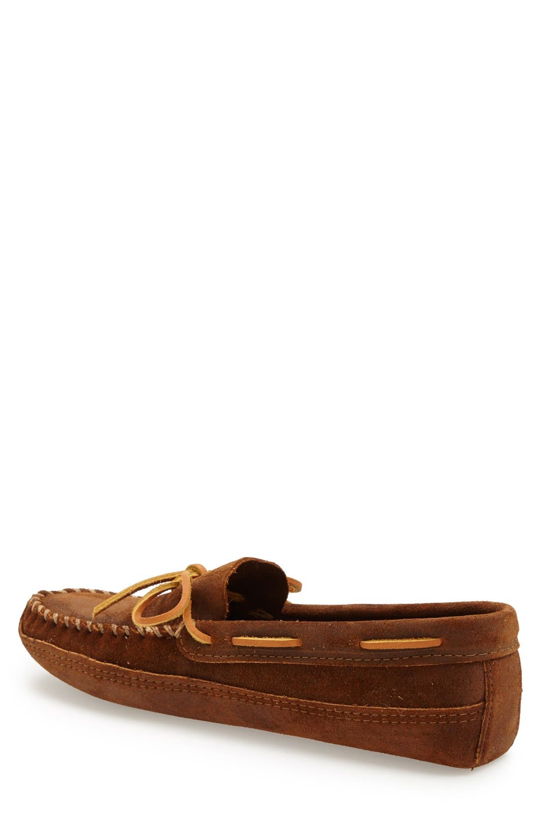 Suede Sole Moccasin,                             Alternate thumbnail 2, color,                             BROWN