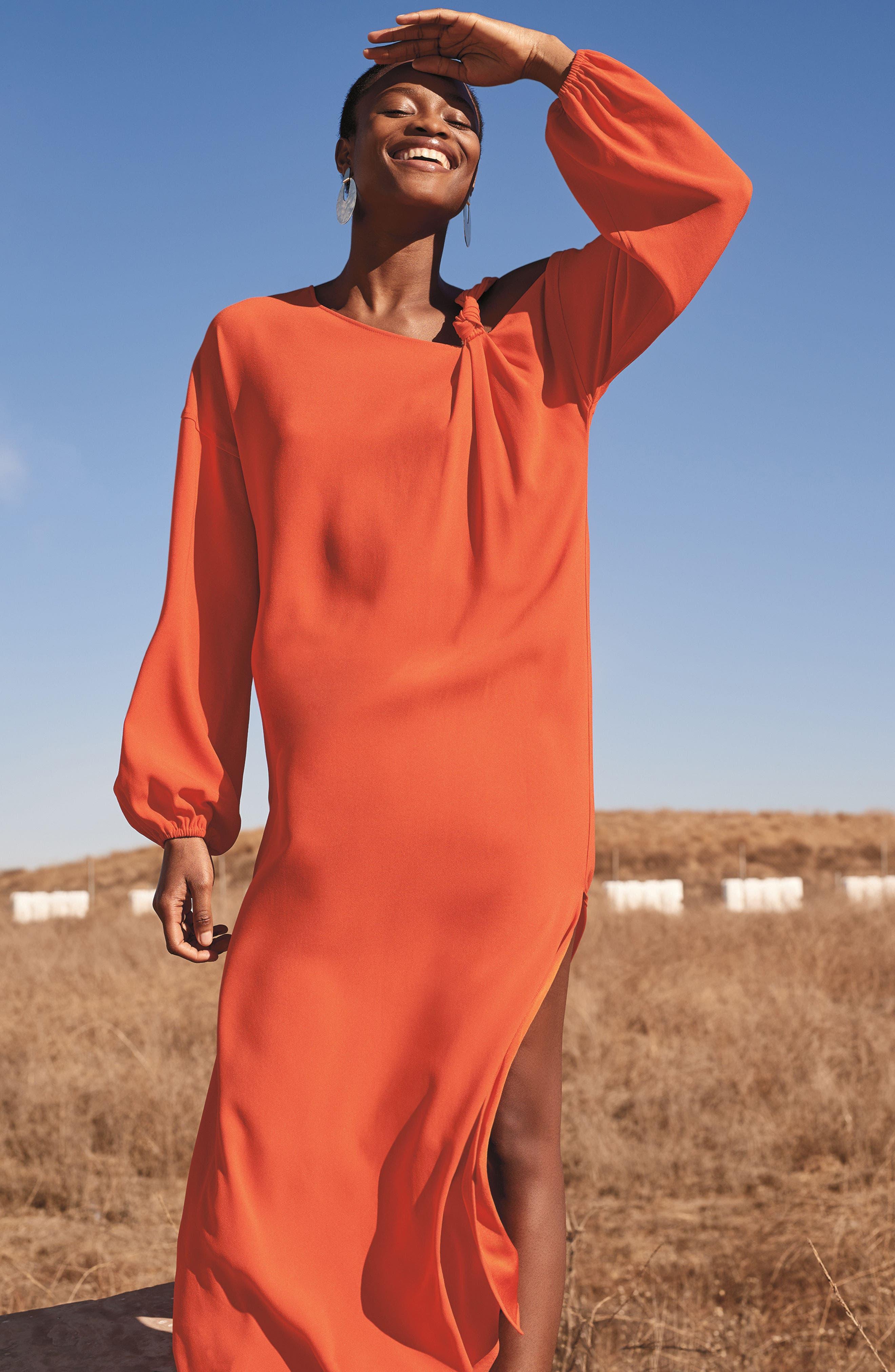 Shontae One-Shoulder Maxi Dress,                             Alternate thumbnail 7, color,