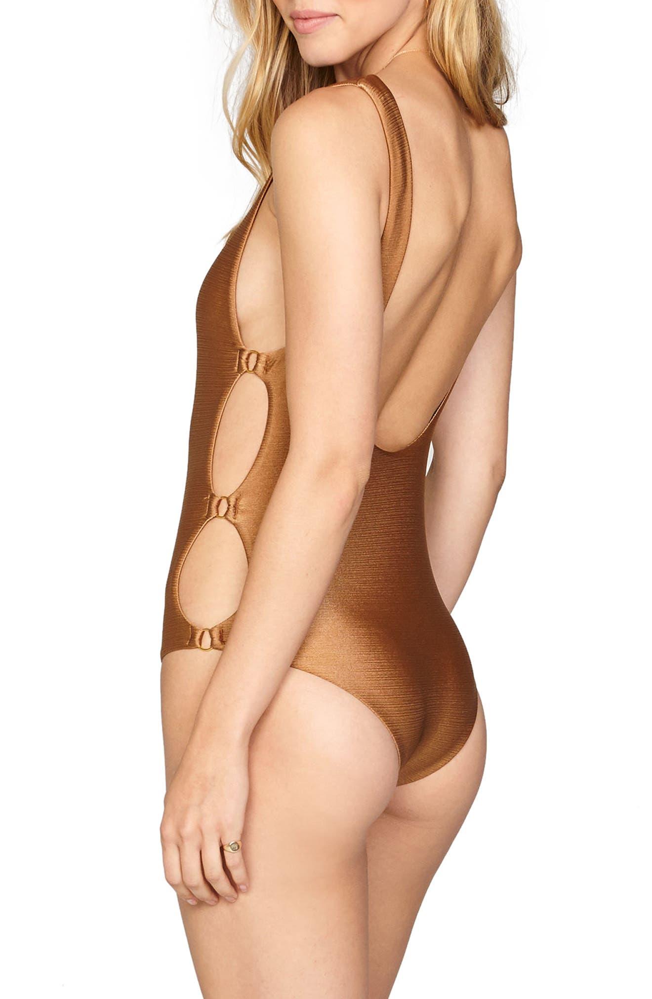 Estelle Cutout One-Piece Swimsuit,                             Alternate thumbnail 2, color,                             200