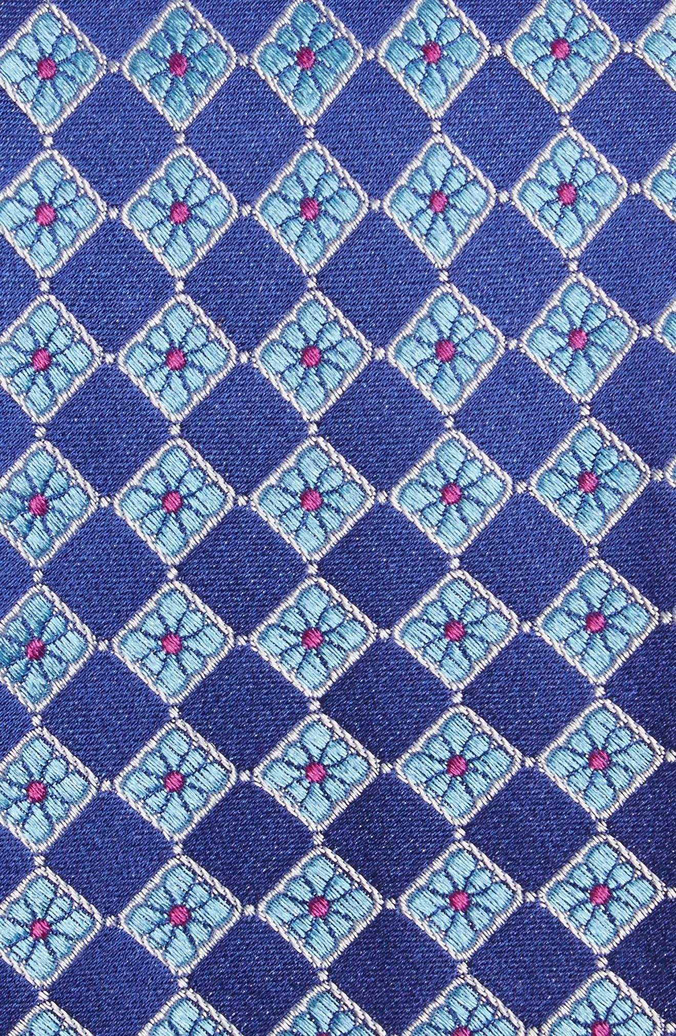 Floral Squares Silk Tie,                             Alternate thumbnail 2, color,                             420
