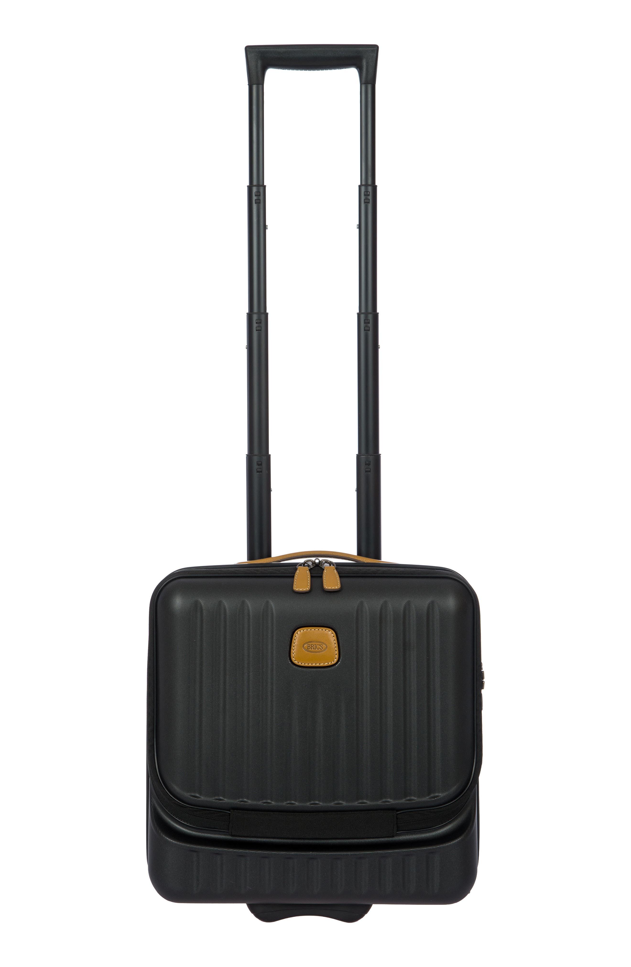 Capri Wheeled 17-Inch Pilot Case,                         Main,                         color, MATTE BLACK
