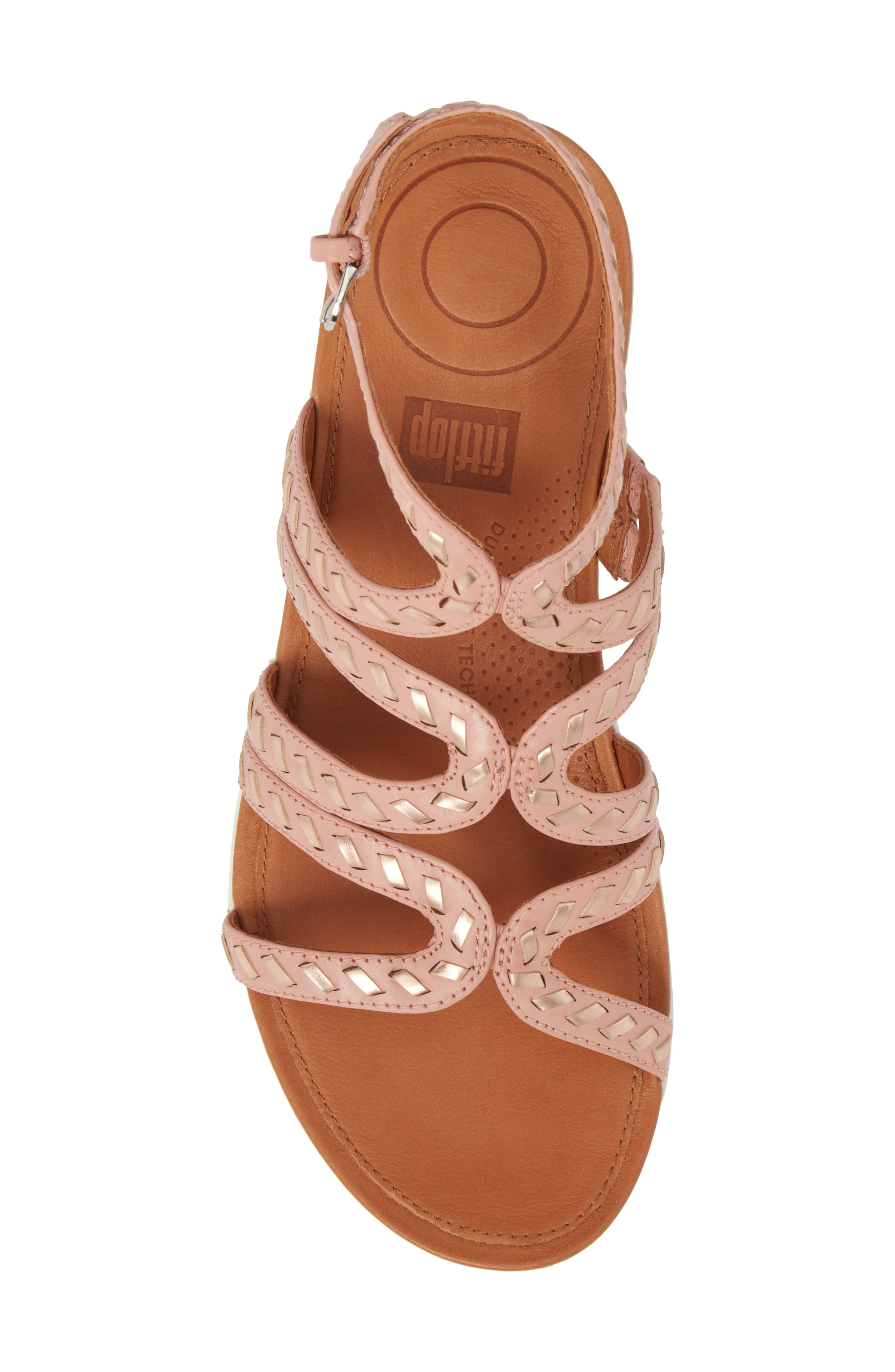 FITFLOP,                             Strata Gladiator Sandal,                             Alternate thumbnail 5, color,                             DUSKY PINK LEATHER
