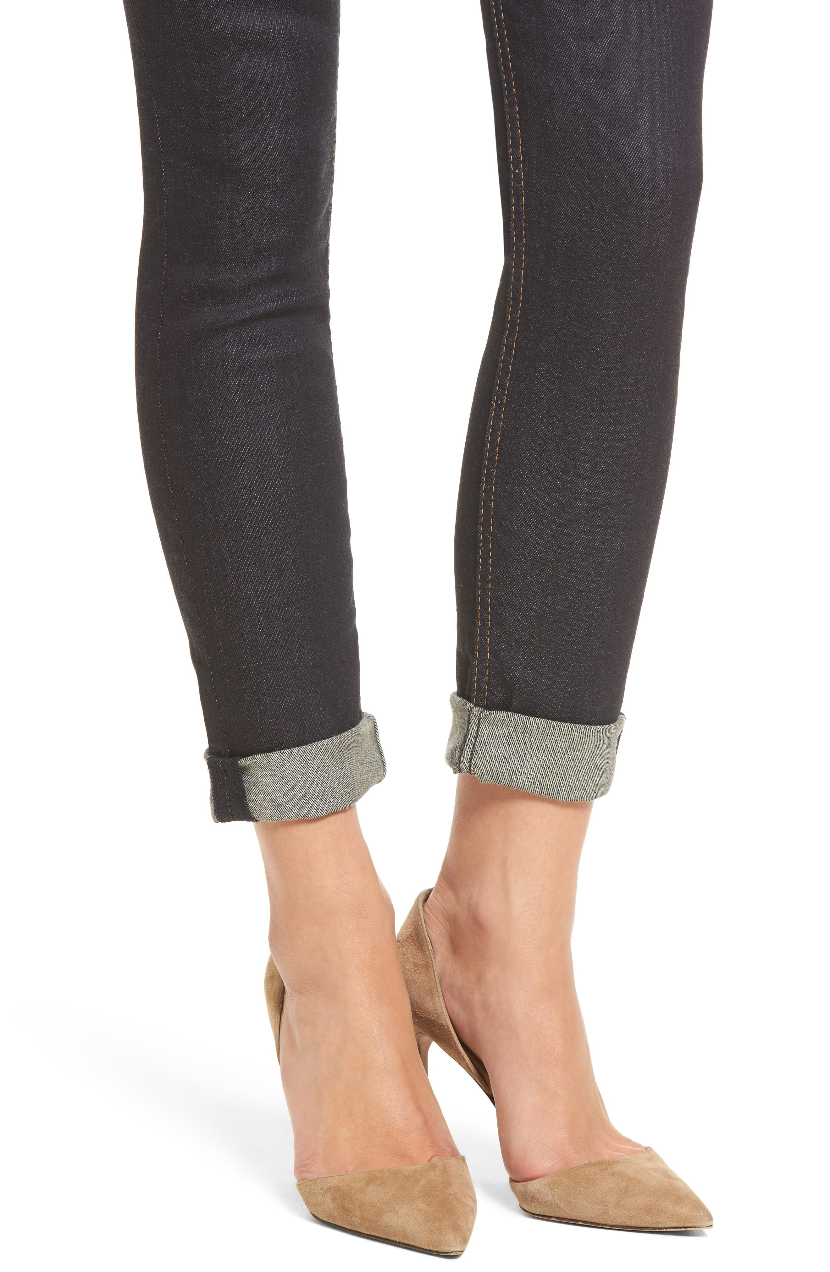 Tally Crop Skinny Jeans,                             Alternate thumbnail 4, color,                             402