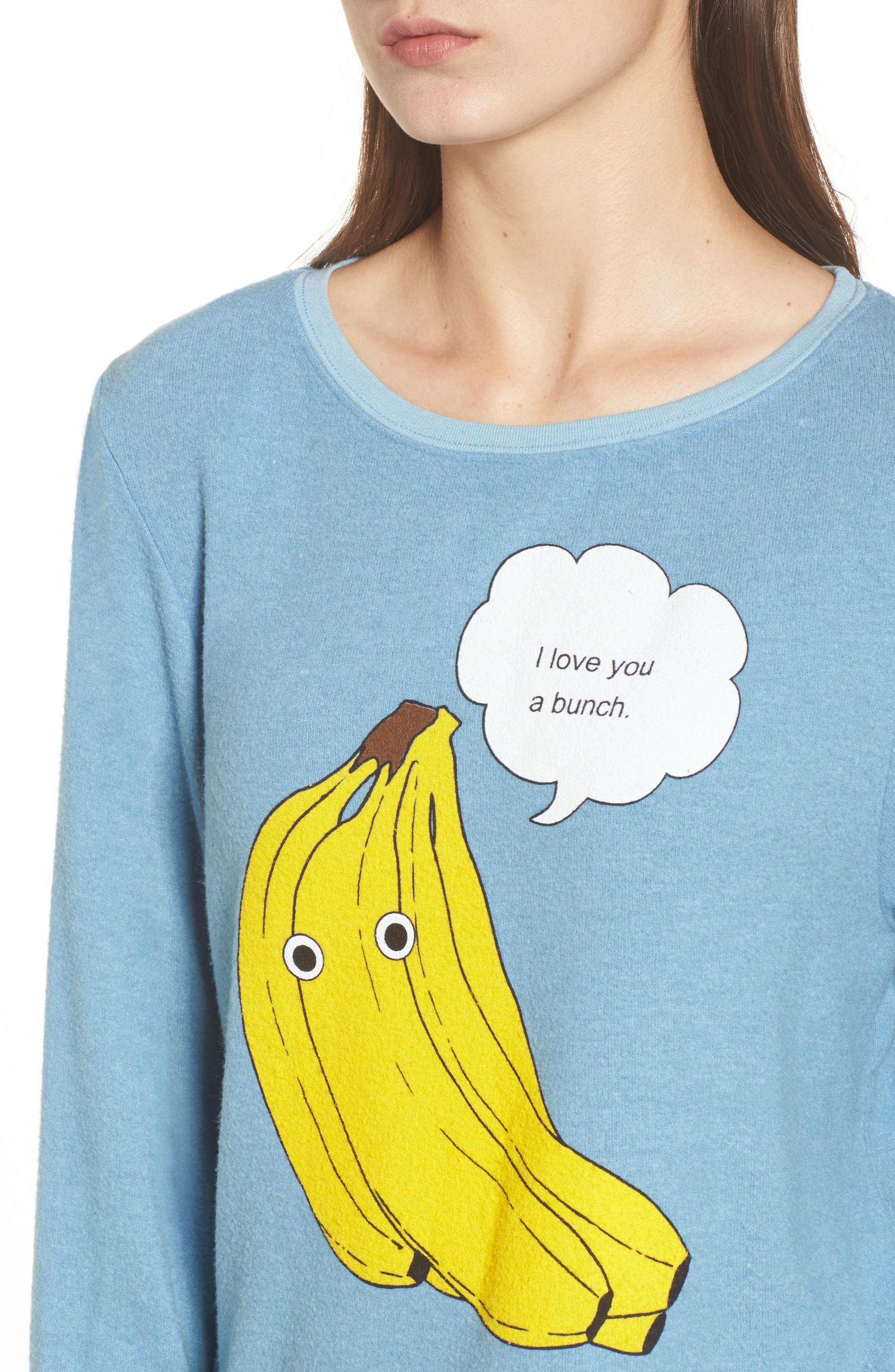 I Love You A Bunch Sweatshirt,                             Alternate thumbnail 4, color,                             420