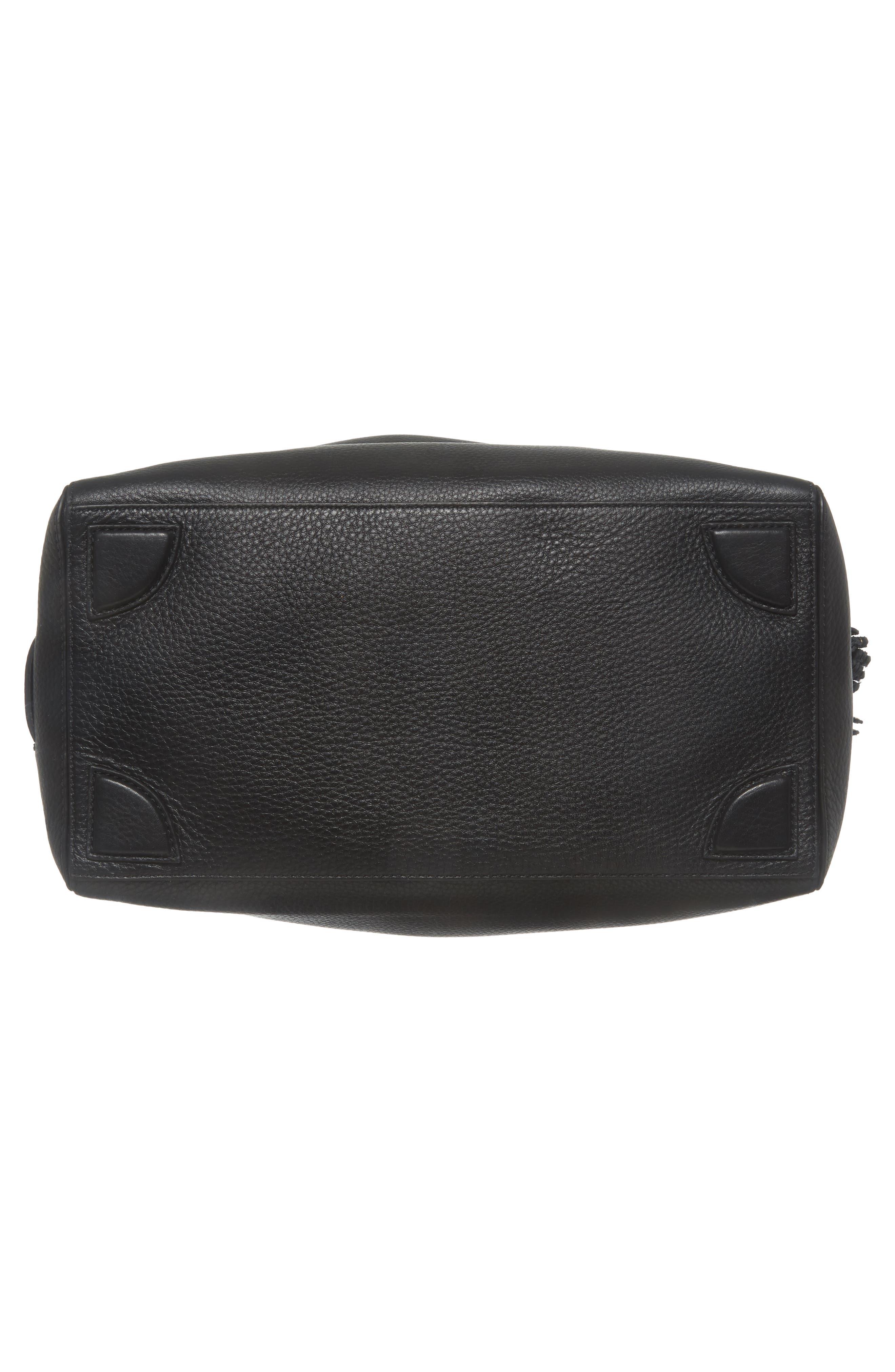 Cassidy RFID Pebbled Leather Bucket Bag,                             Alternate thumbnail 6, color,                             001