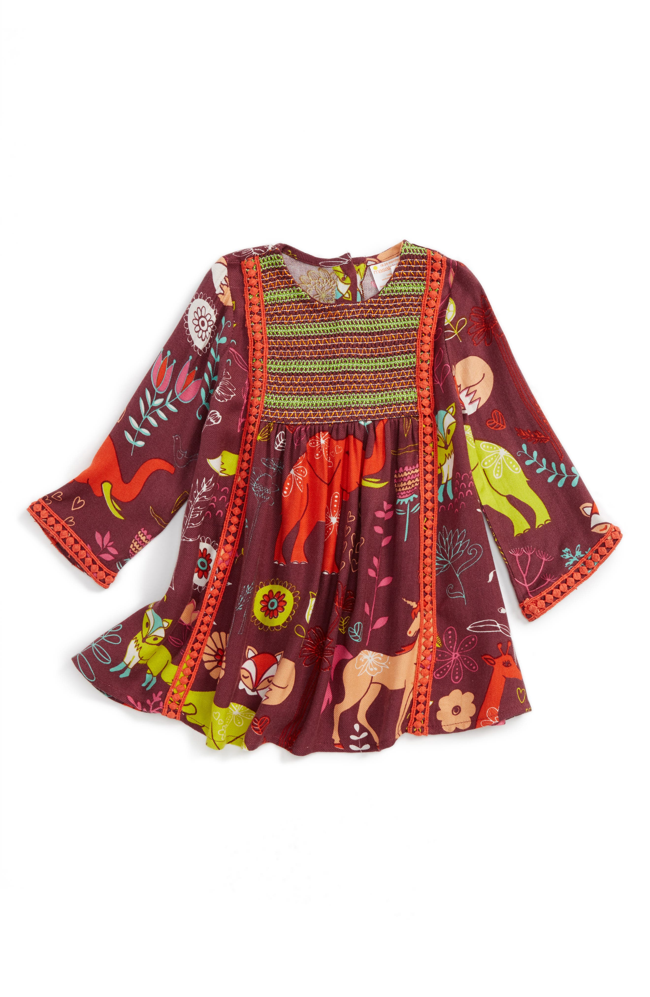 Magical Smocked Dress,                         Main,                         color, 930