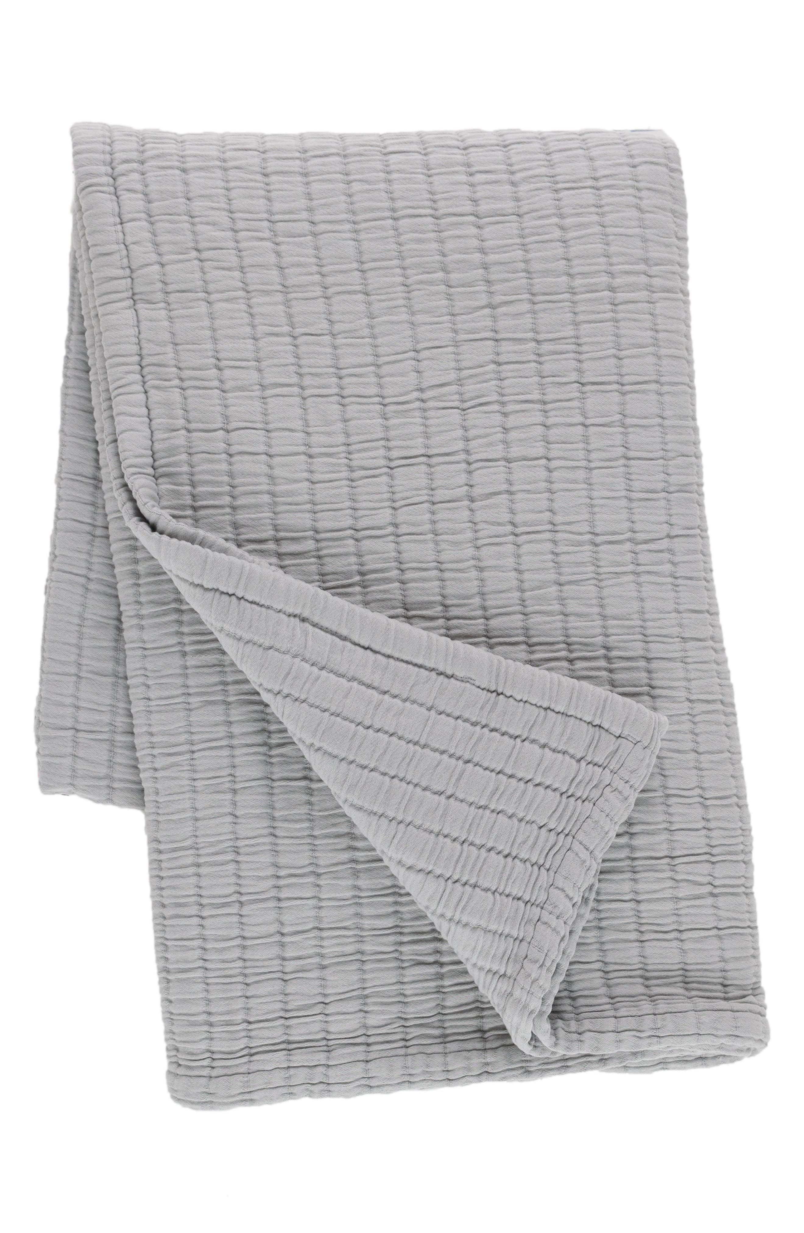 Matelassé Throw,                         Main,                         color, GREY