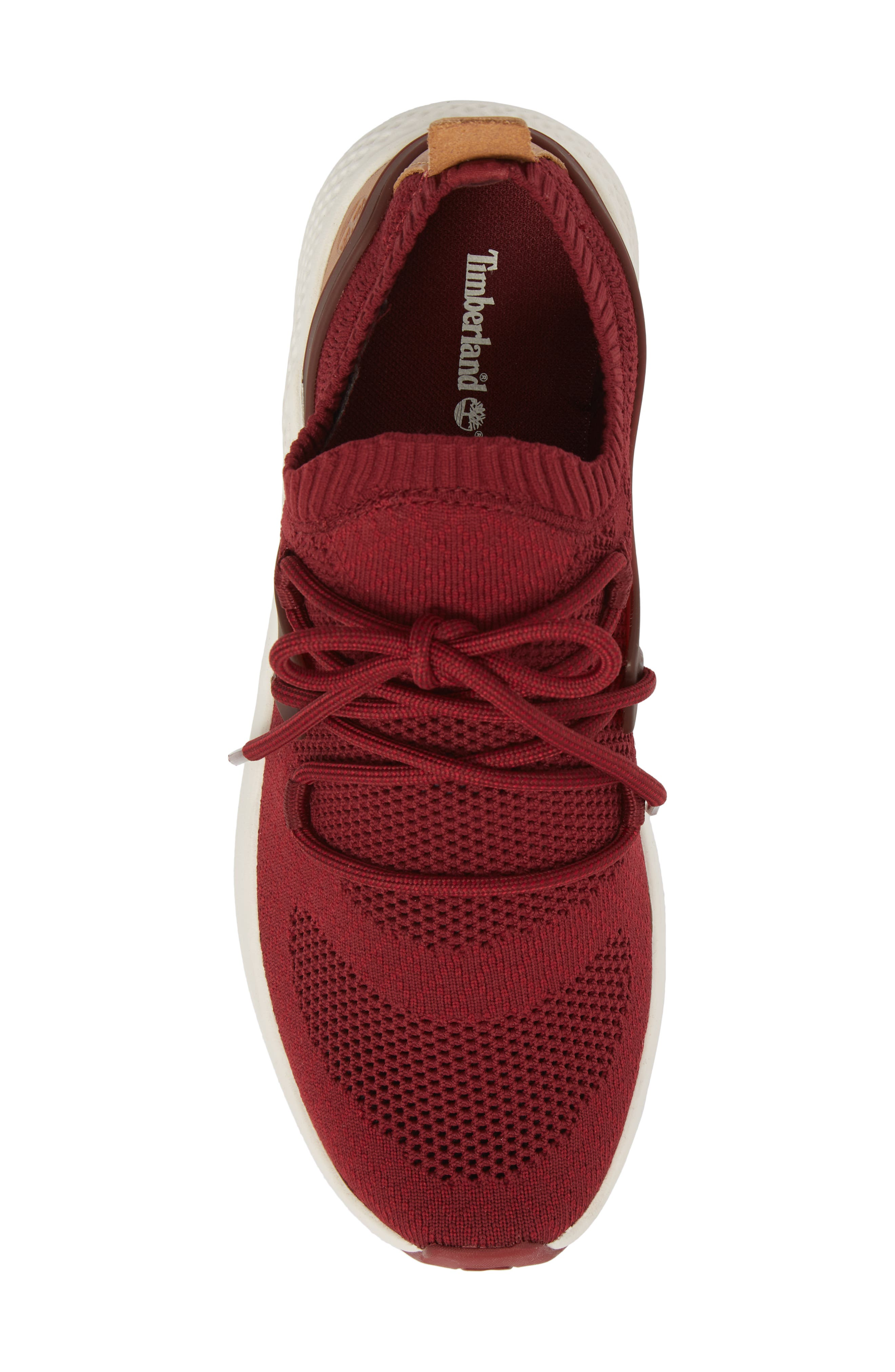 FlyRoam Sneaker,                             Alternate thumbnail 5, color,                             POMEGRANATE LEATHER