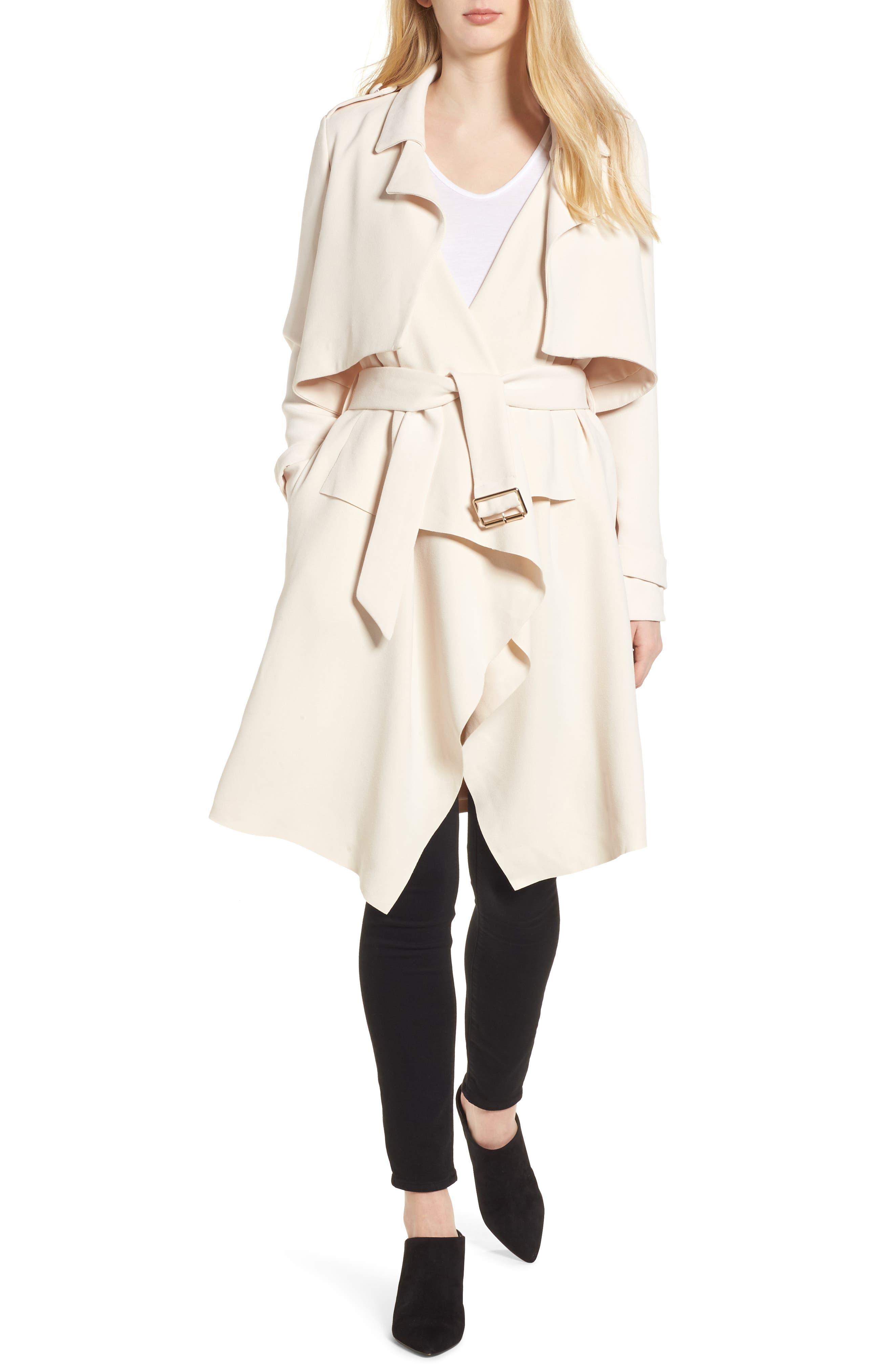 Iris Drape Trench Coat,                         Main,                         color, 250