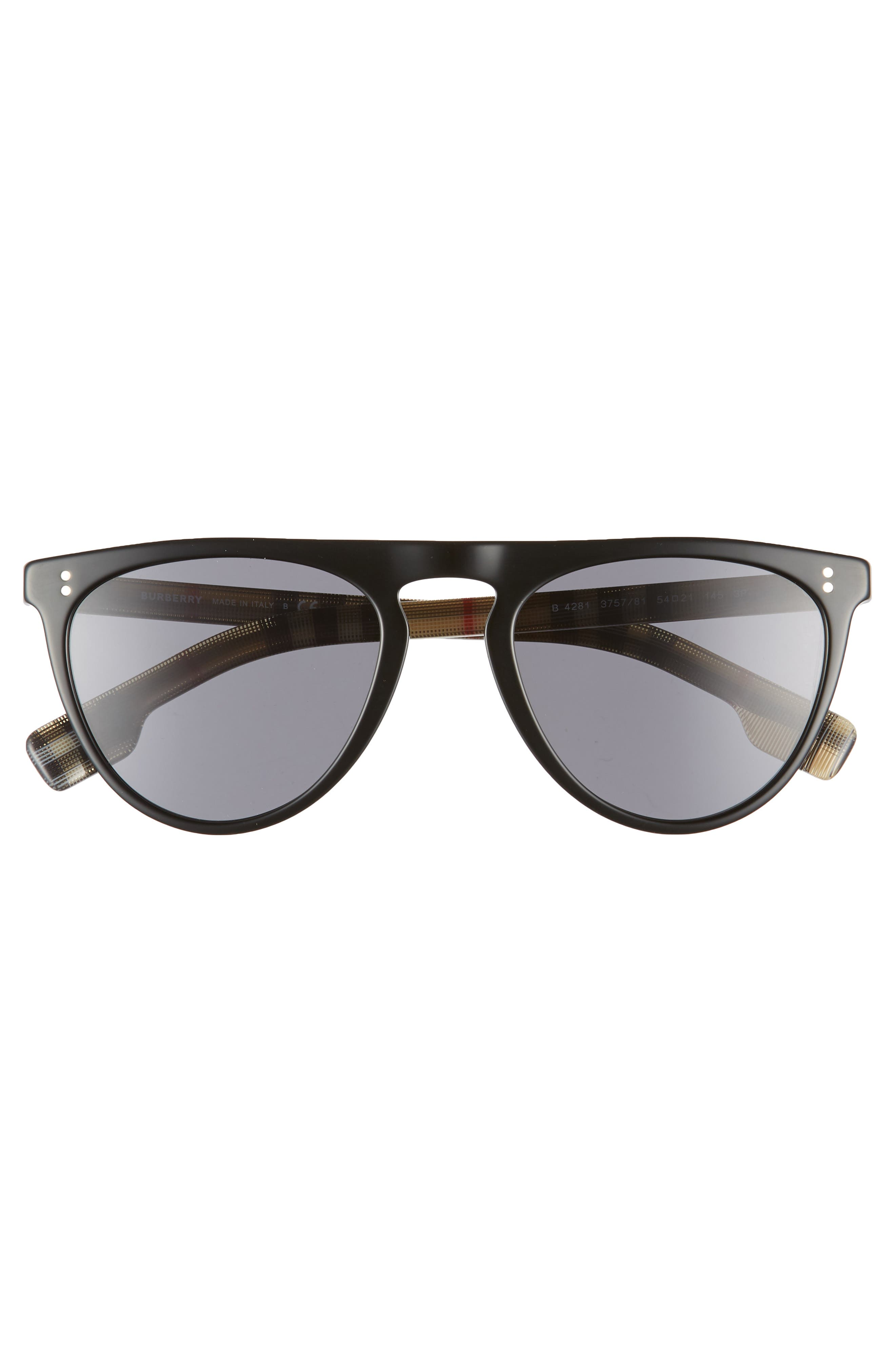 54mm Polarized Sunglasses,                             Alternate thumbnail 3, color,                             BLACK PATTERN SOLID