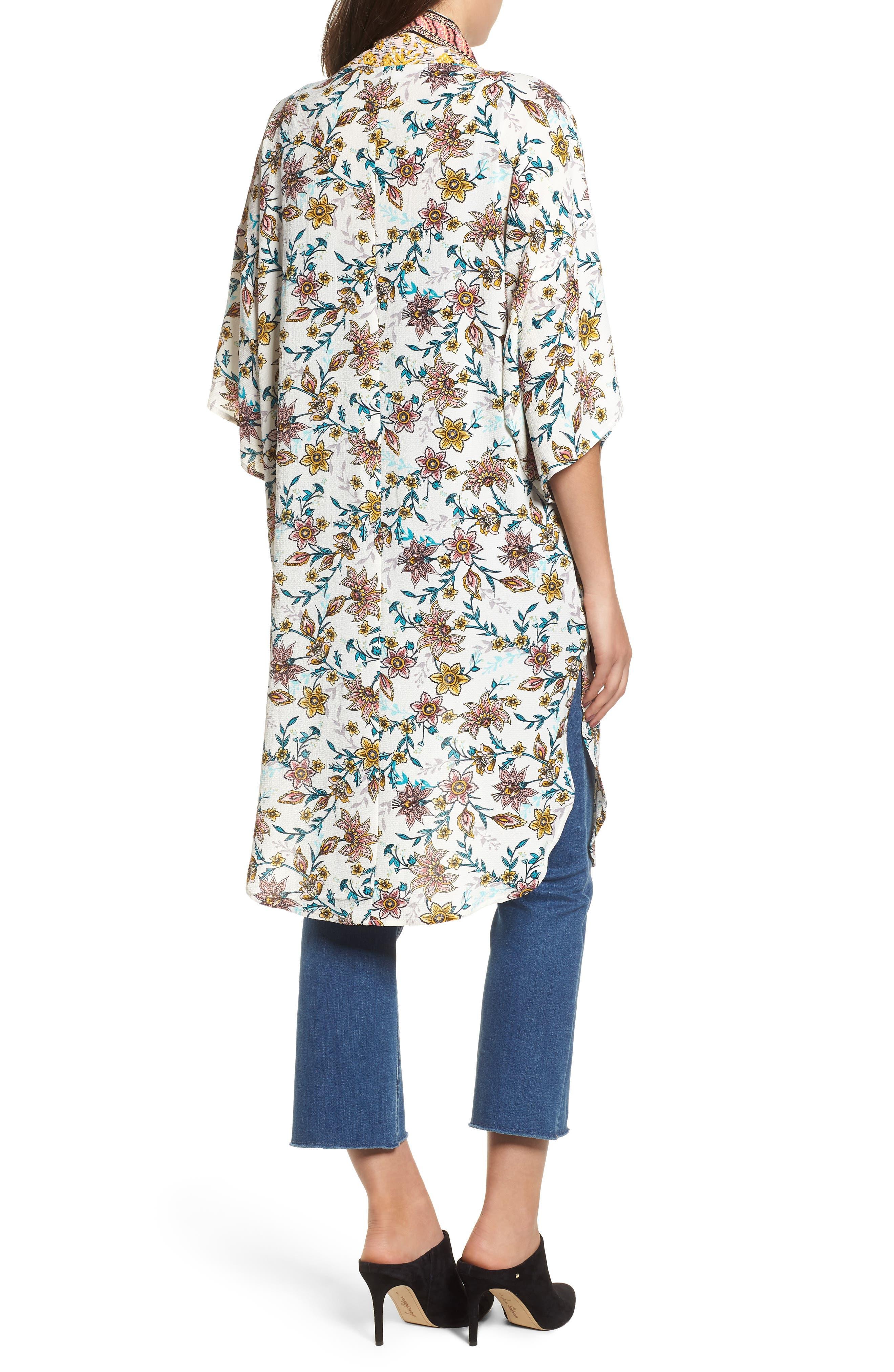 Print Kimono,                             Alternate thumbnail 2, color,                             100